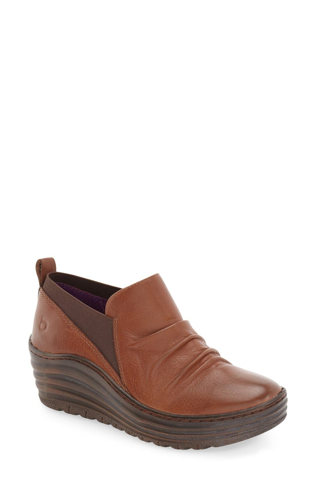 'Gallant' Leather Bootie,                             Main thumbnail 1, color,                             PINECONE LEATHER
