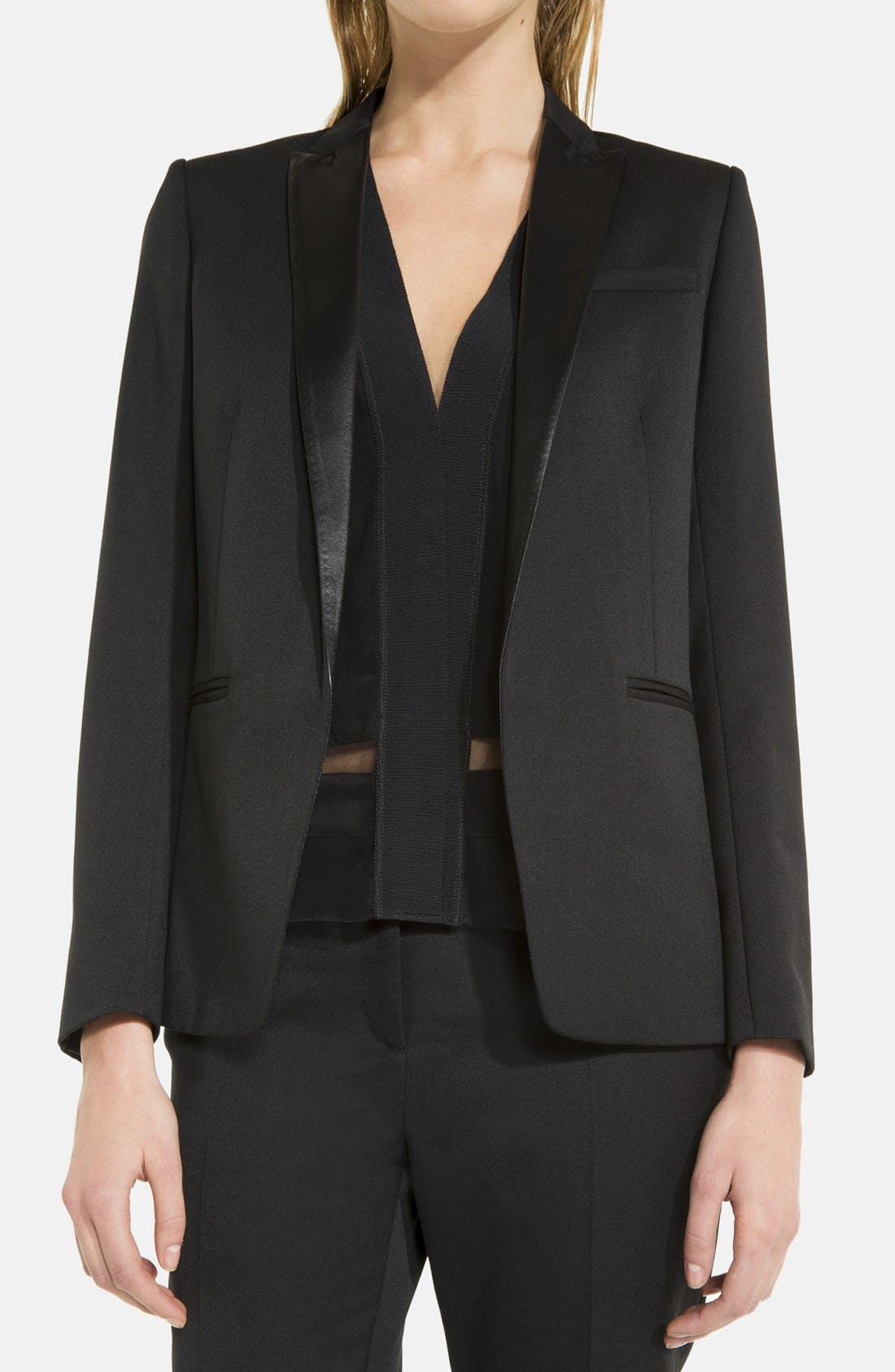 'Virtuose' Blazer,                             Alternate thumbnail 3, color,                             001