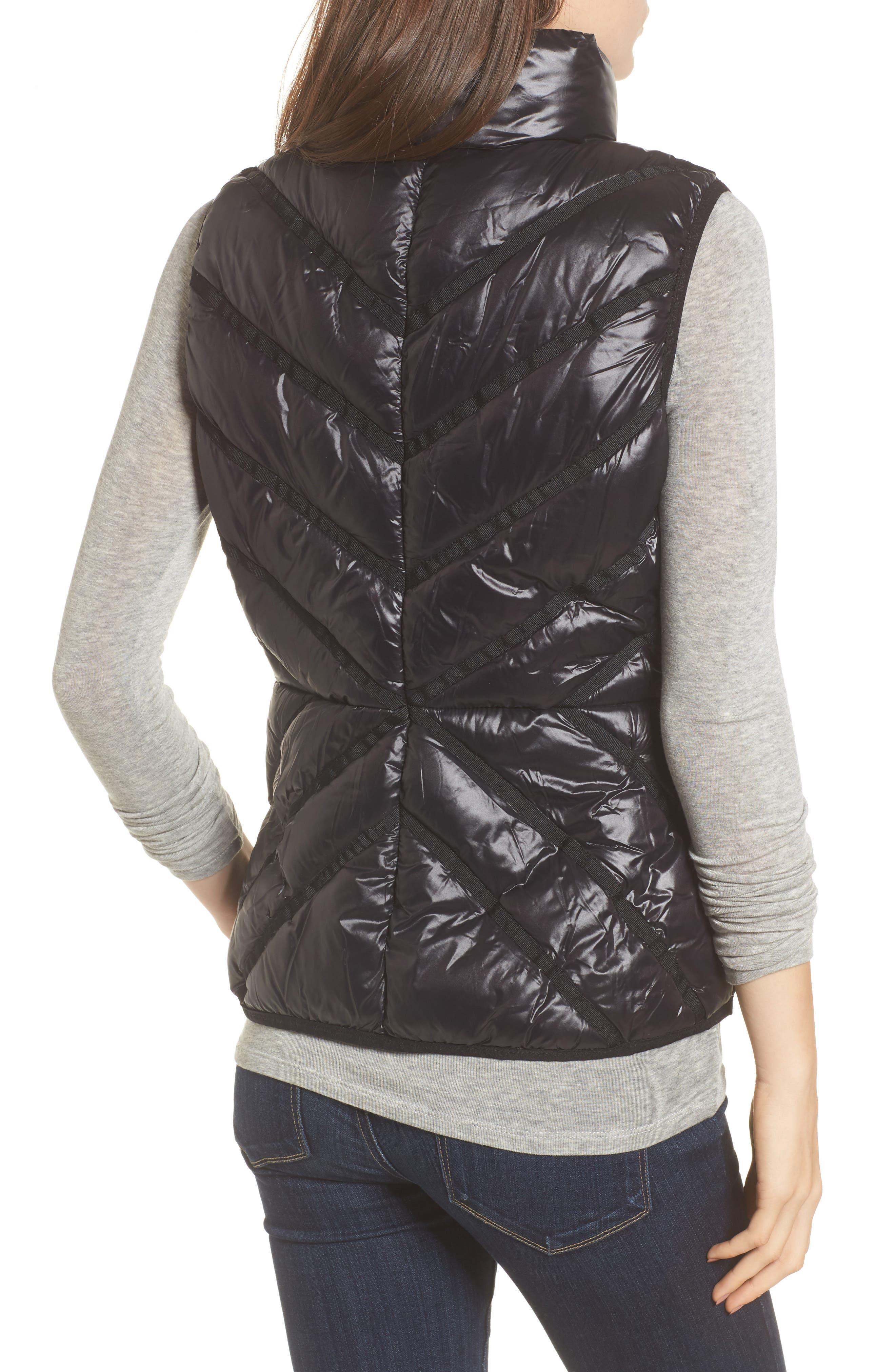 Chevron Quilt Puffer Vest,                             Alternate thumbnail 2, color,                             001