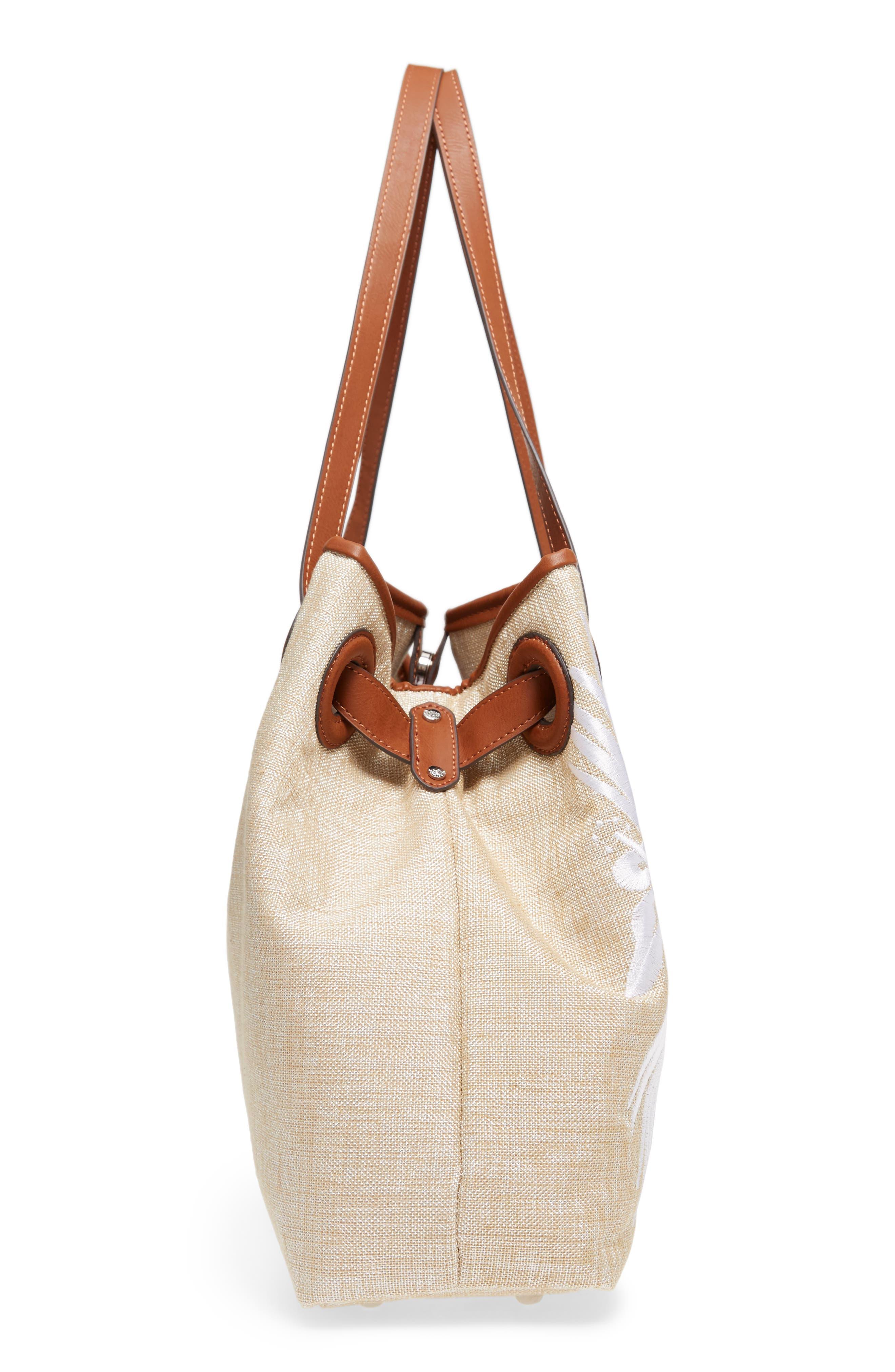 Waikiki Embroidered Canvas Tote,                             Alternate thumbnail 15, color,