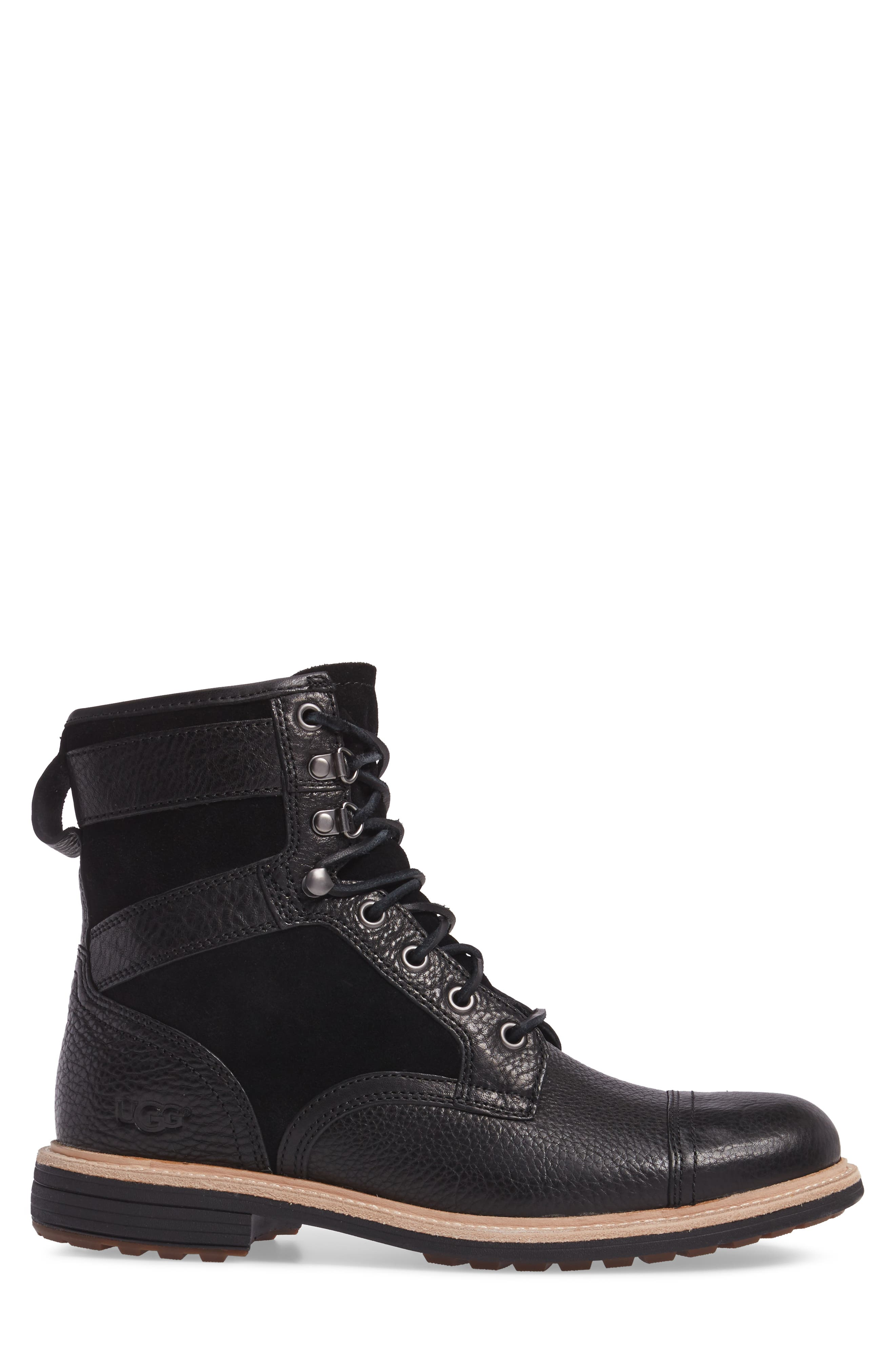 UGG<SUP>®</SUP>,                             Magnusson Cap Toe Boot,                             Alternate thumbnail 3, color,                             001