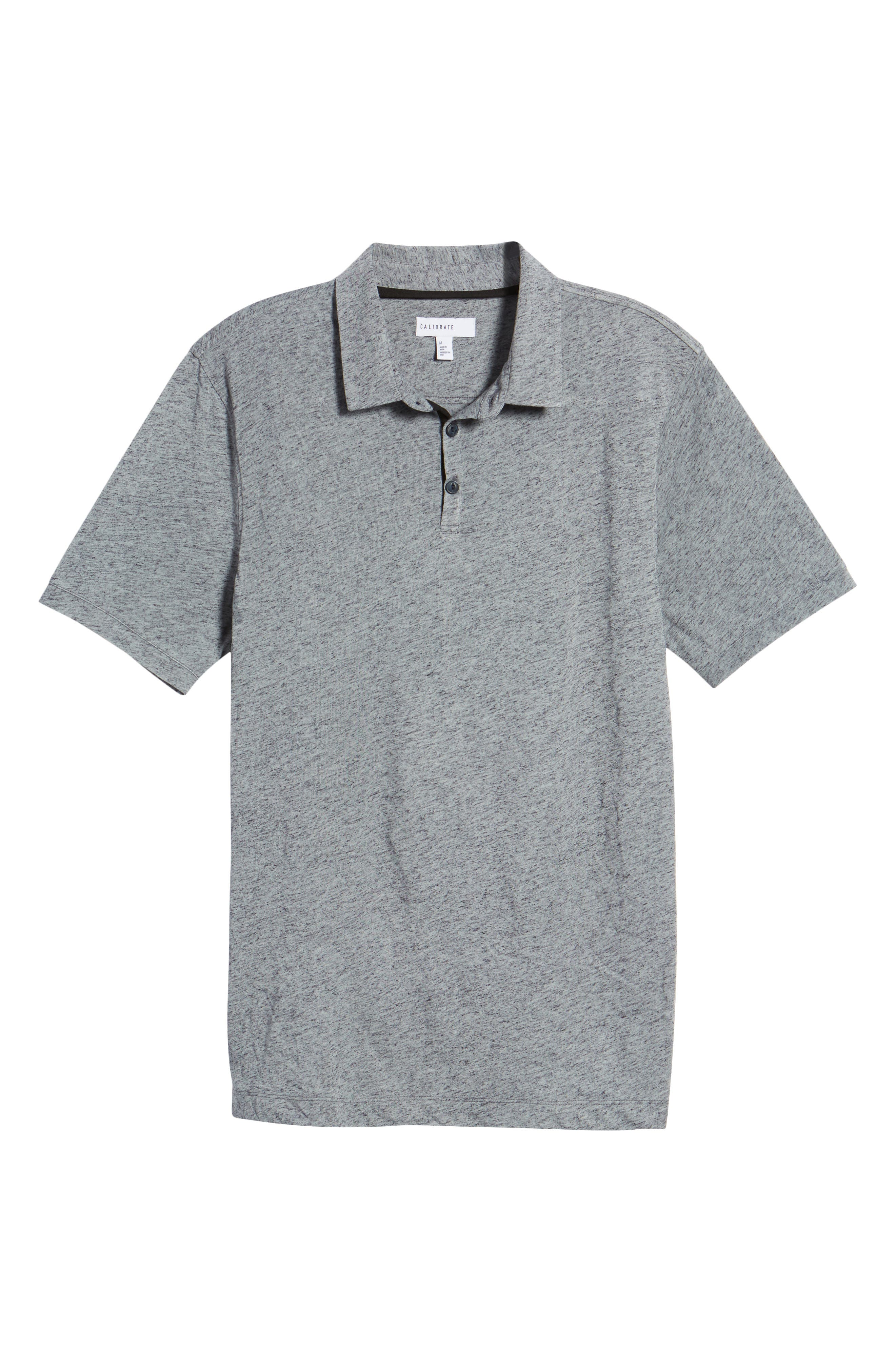 Heathered Polo,                             Alternate thumbnail 6, color,                             410