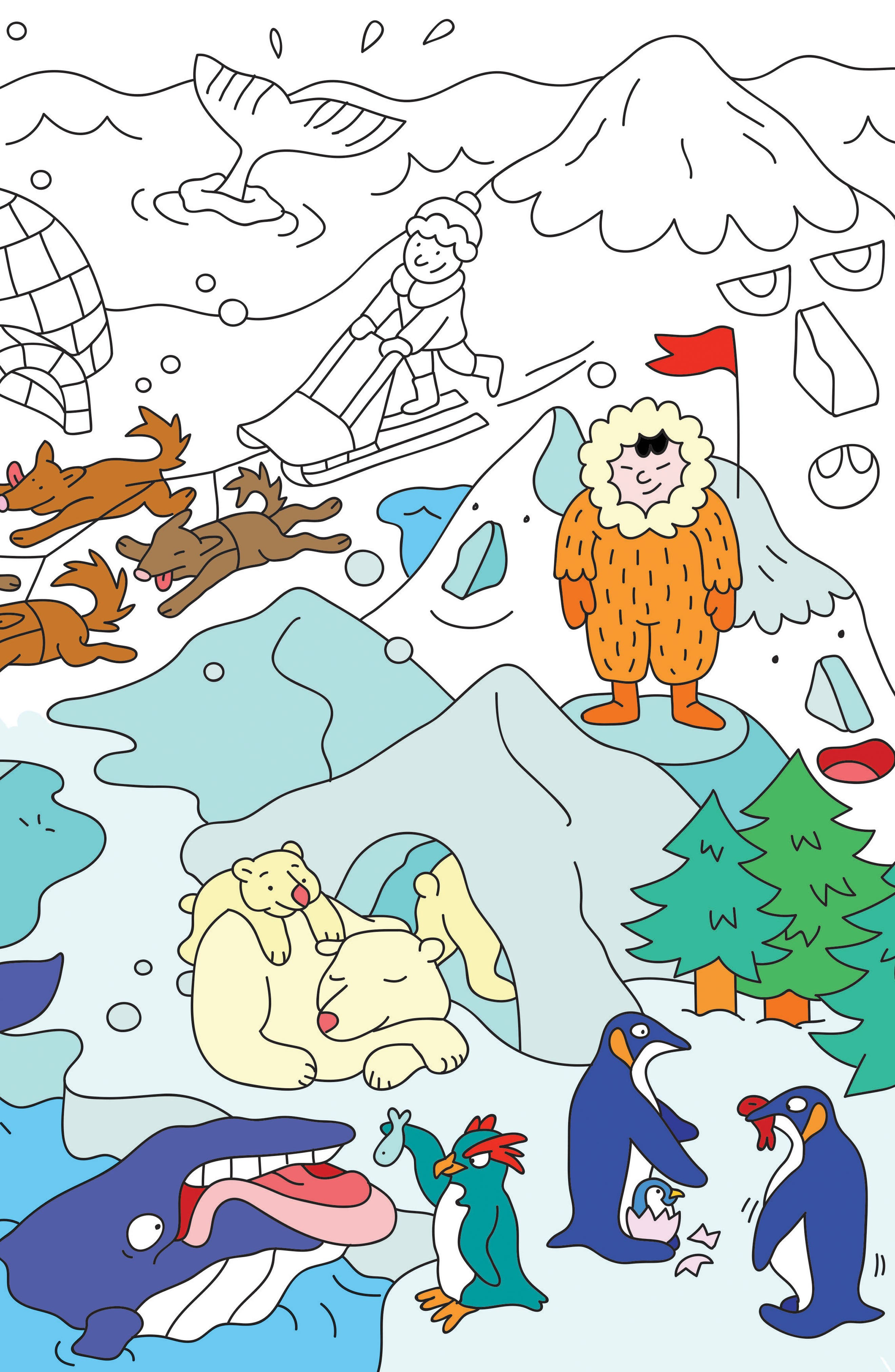 Set of 24 Animals Coloring Placemats,                             Alternate thumbnail 2, color,                             100