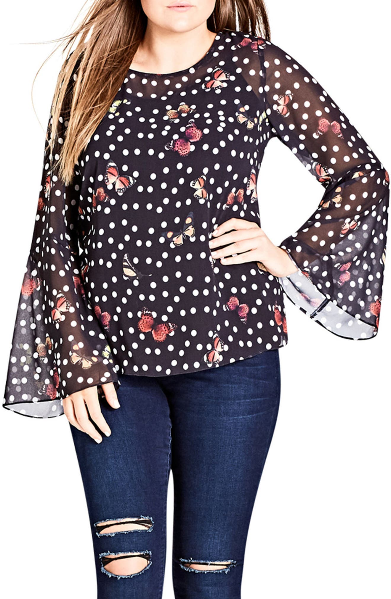 Butterfly Bliss Top,                         Main,                         color, 001