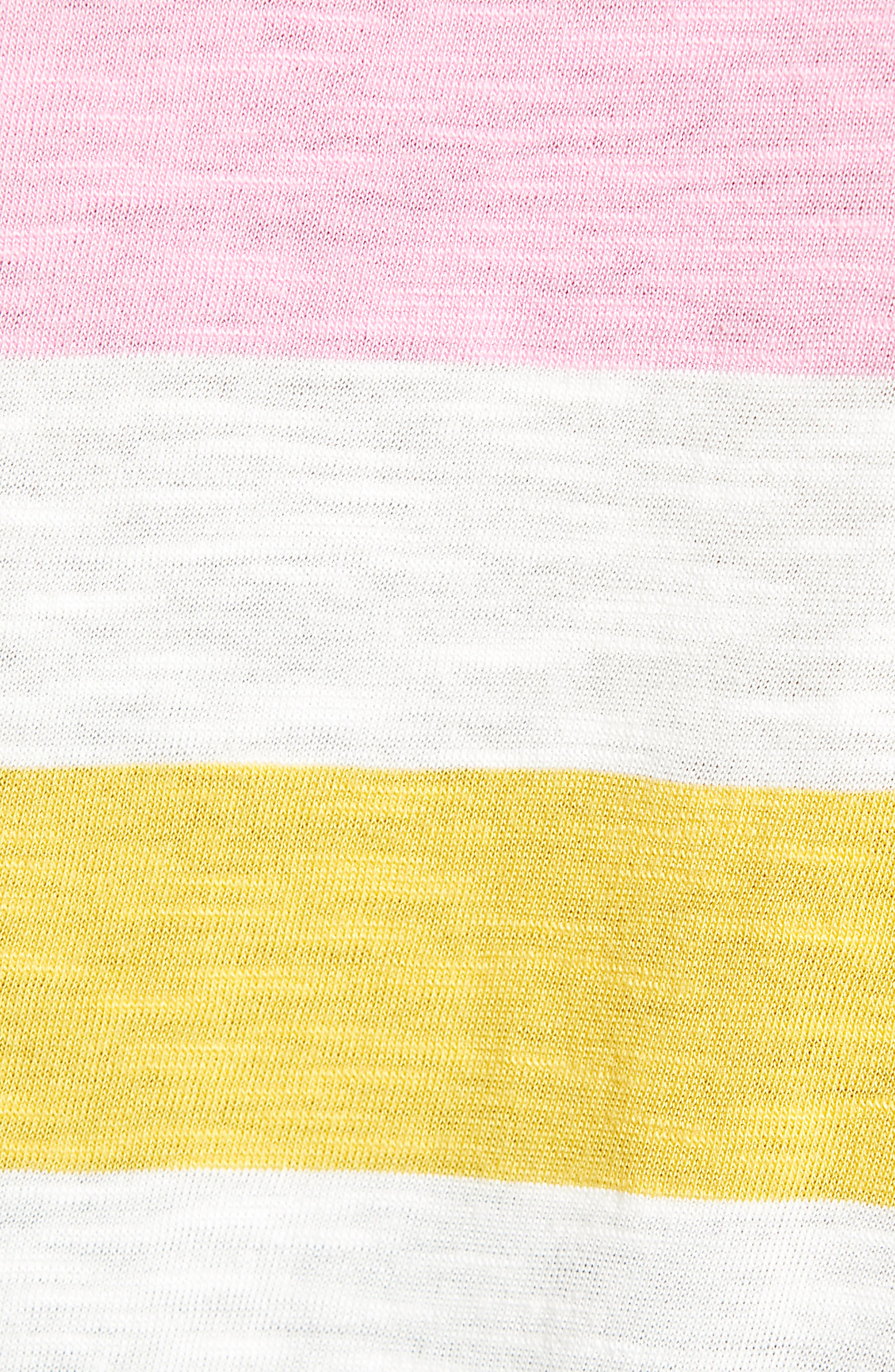 CASLON<SUP>®</SUP>,                             Rounded V-Neck Tee,                             Alternate thumbnail 6, color,                             PINK S- NAVY P NOMAD STRIPE