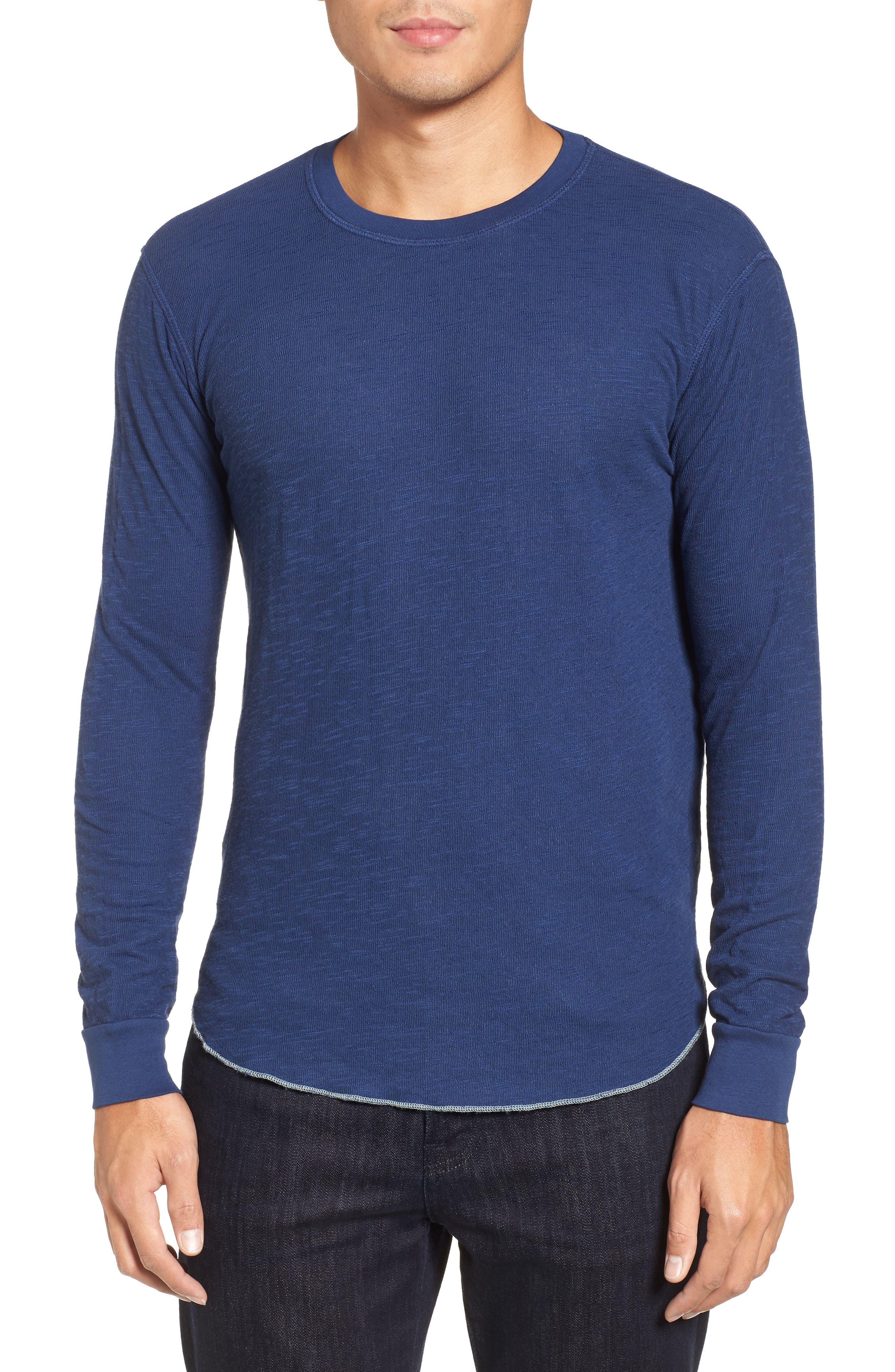 Double Layer Slim Crewneck T-Shirt,                             Main thumbnail 6, color,