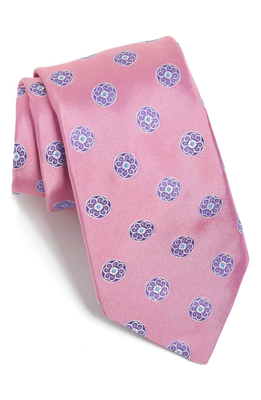 Medallion Woven Silk Tie,                             Main thumbnail 6, color,