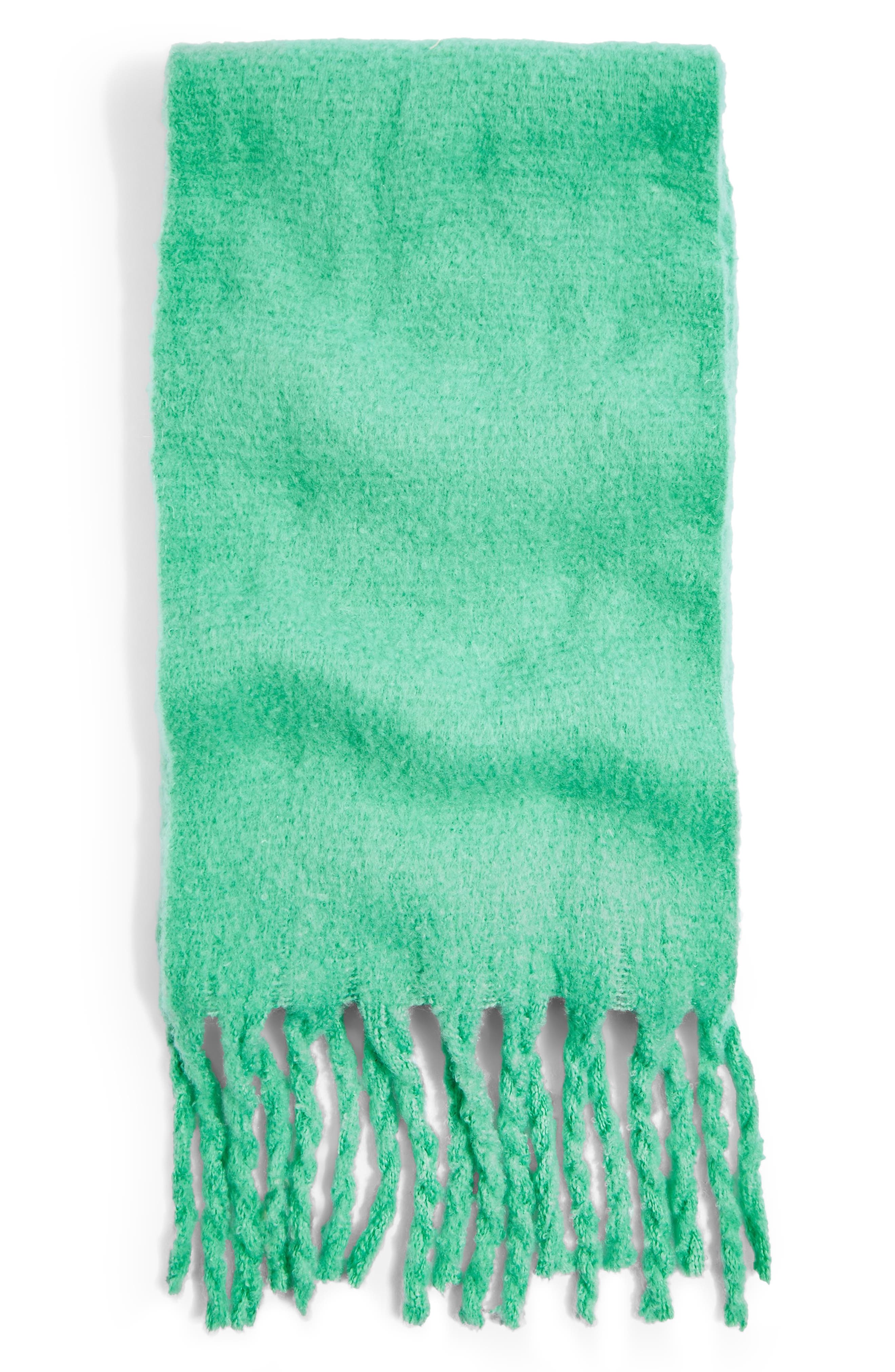 Heavy Brushed Scarf,                             Alternate thumbnail 2, color,                             MINT