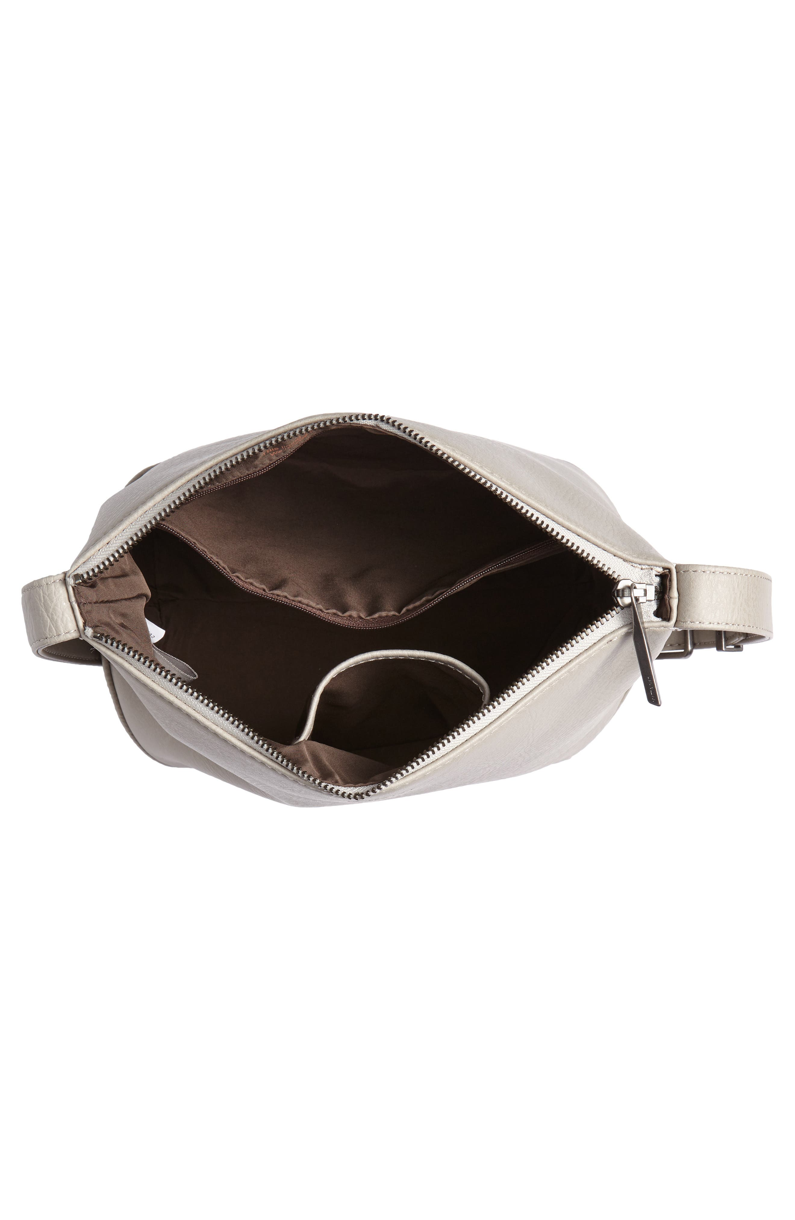 Large Sam Faux Leather Crossbody Bag,                             Alternate thumbnail 4, color,                             050