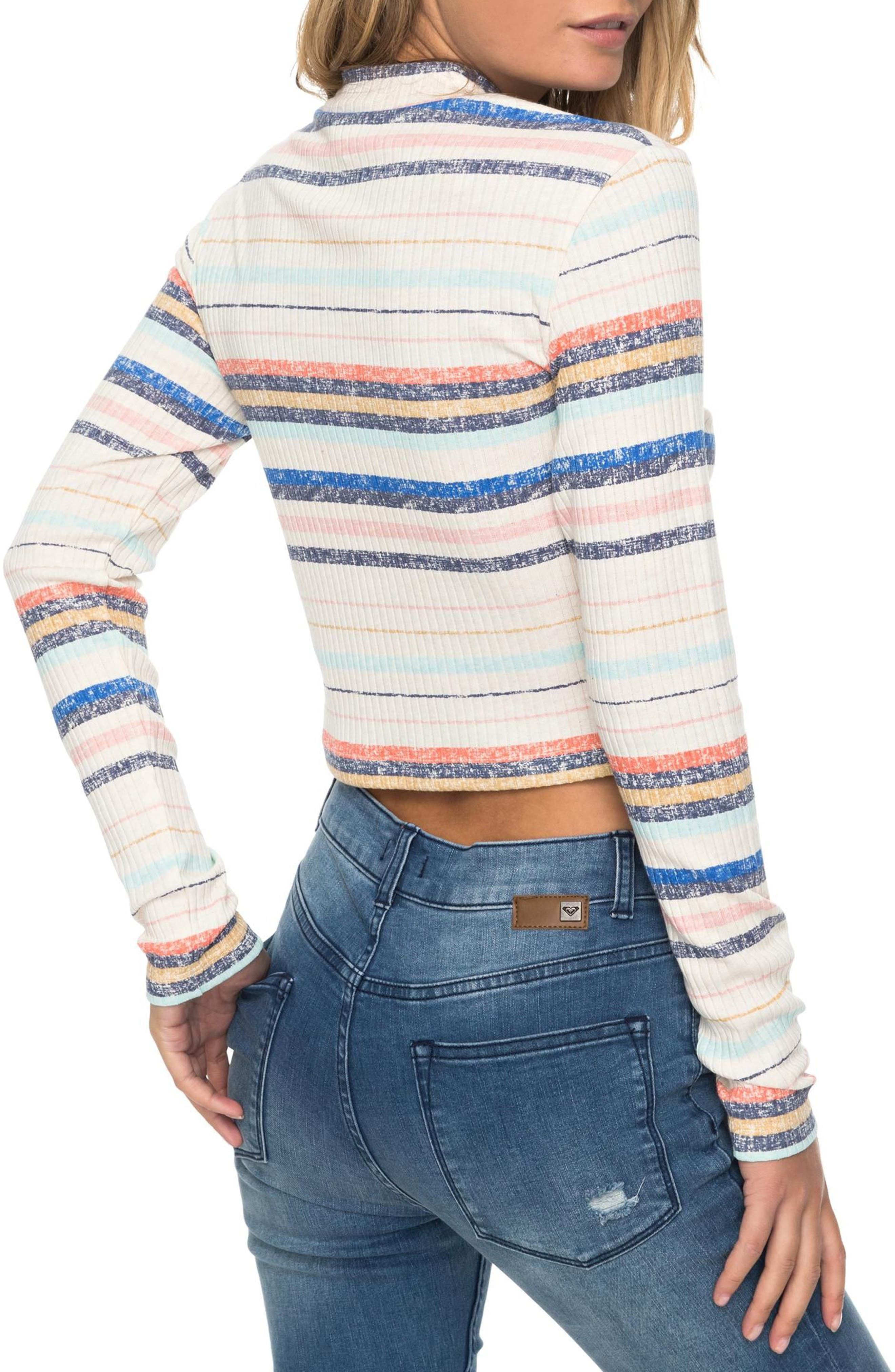 Smooth Move Mock Neck Crop Sweater,                             Alternate thumbnail 2, color,