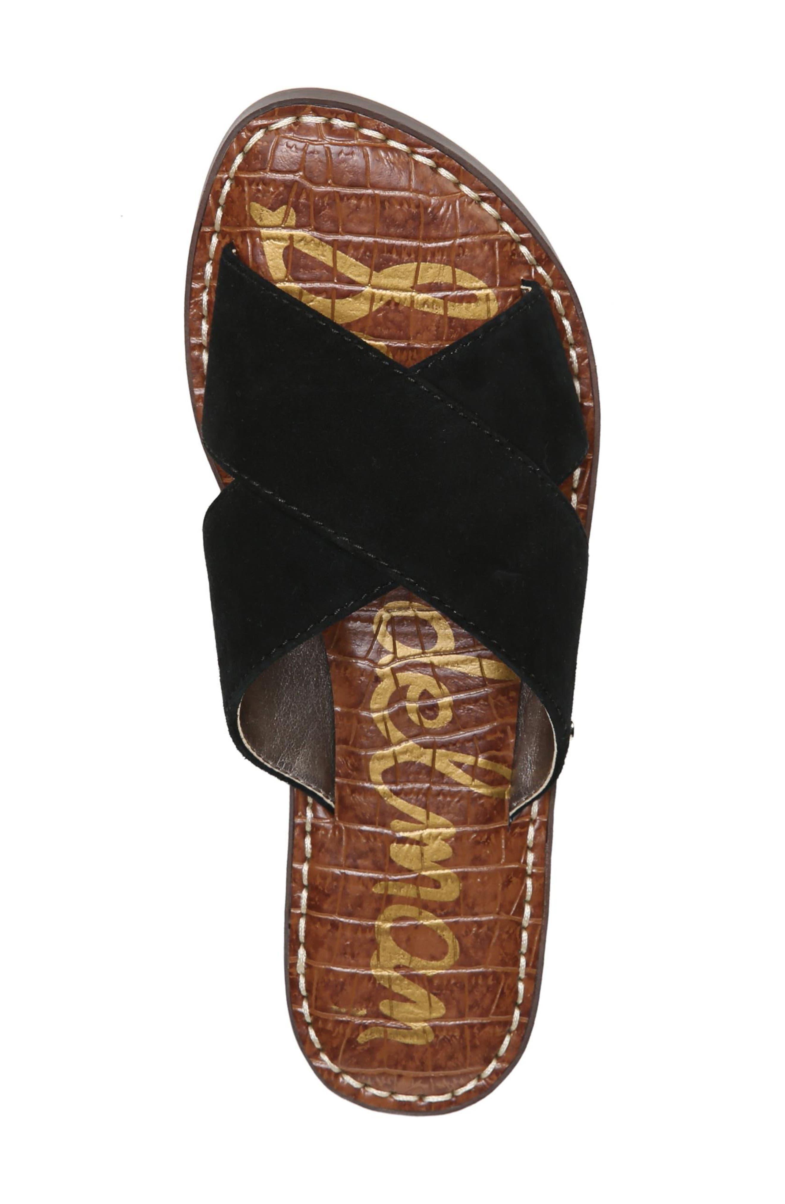 Gertrude Cross Strap Slide Sandal,                             Alternate thumbnail 5, color,                             001