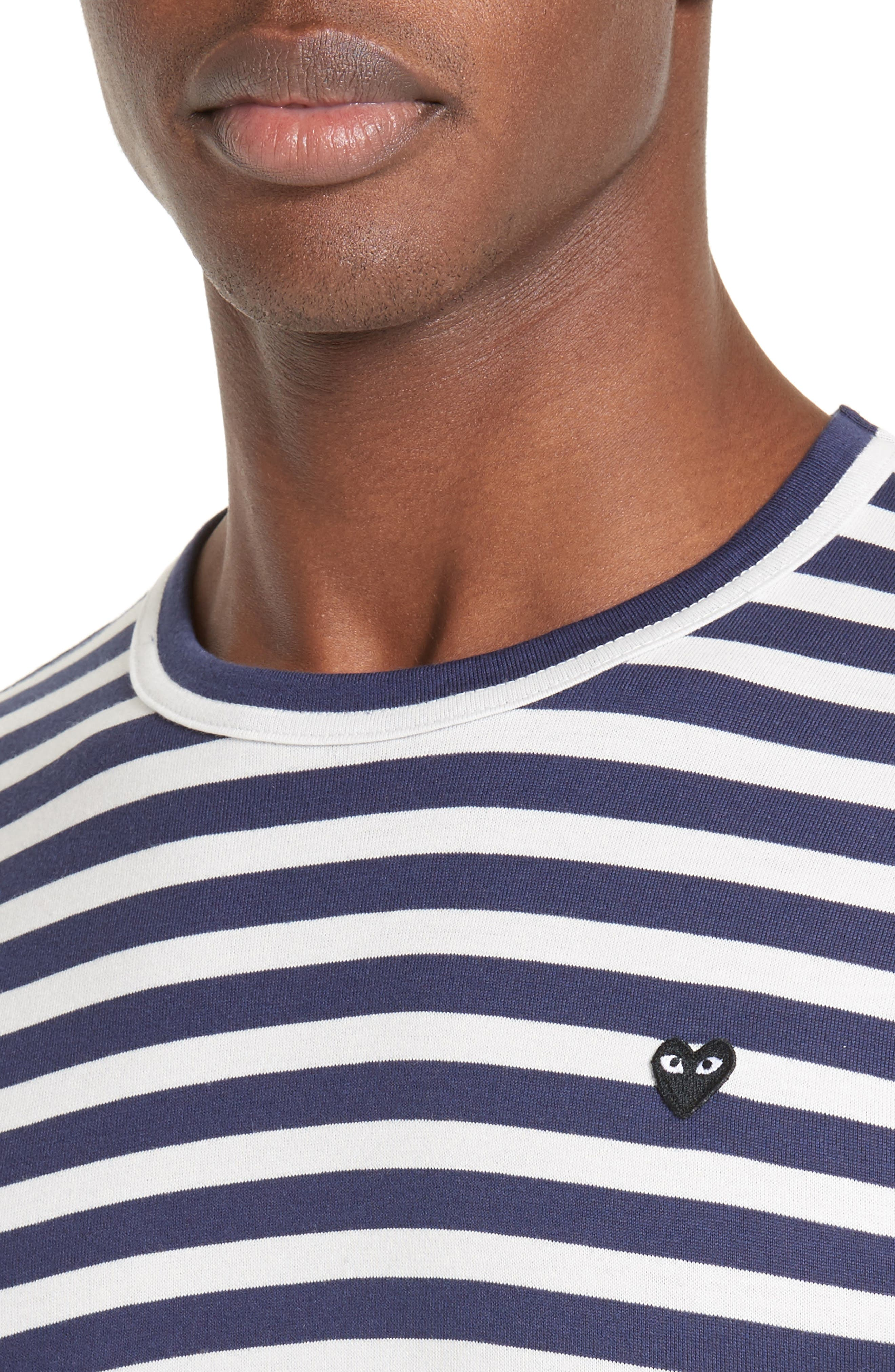 PLAY Stripe T-Shirt,                             Alternate thumbnail 4, color,