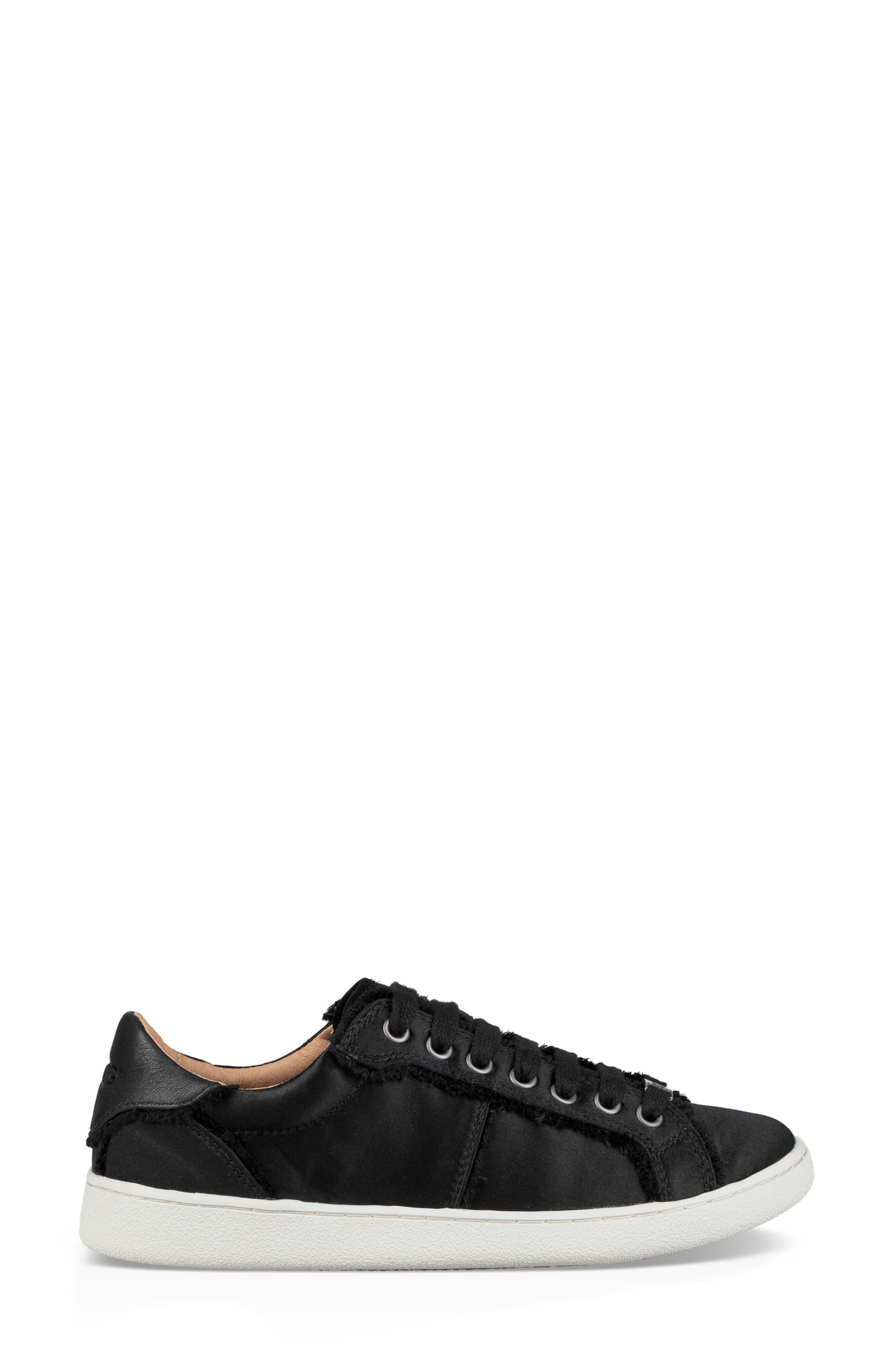 Milo Spill Seam Sneaker,                             Alternate thumbnail 3, color,                             BLACK FABRIC