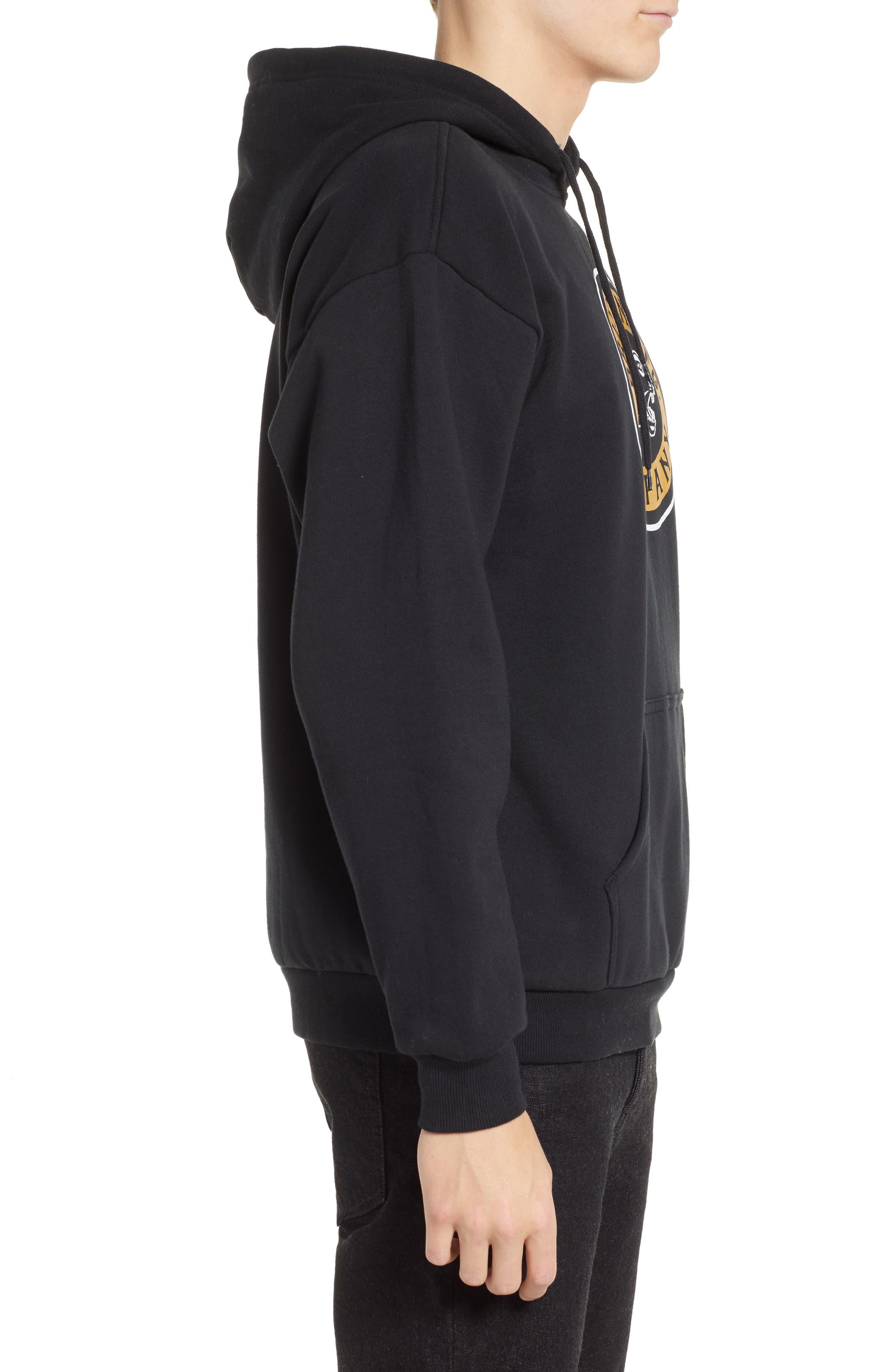 Forte Hooded Sweatshirt,                             Alternate thumbnail 3, color,                             BLACK