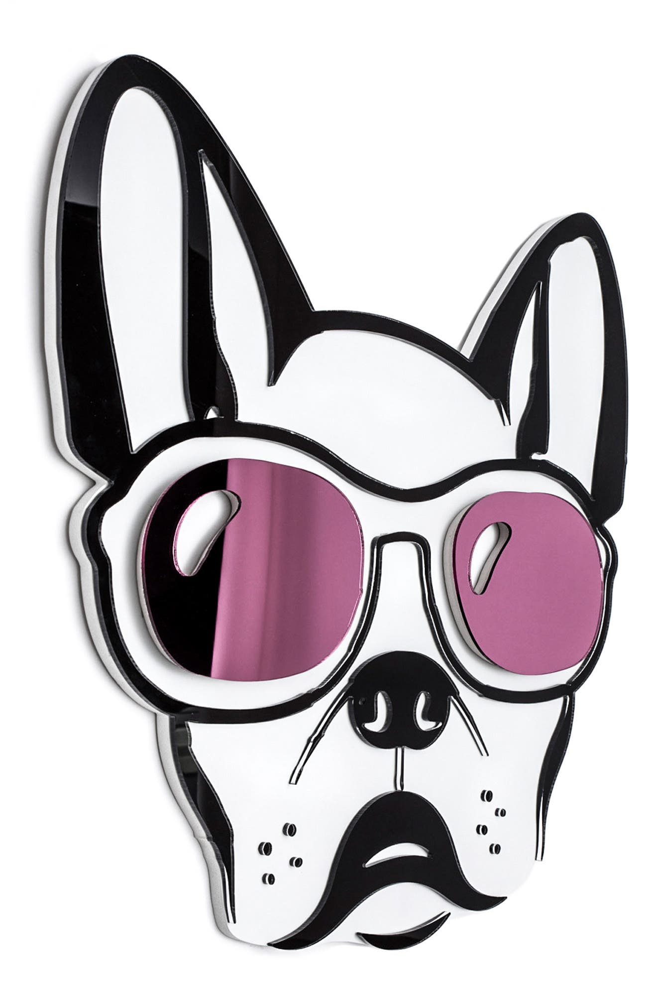 Cool Dog Wall Art,                             Alternate thumbnail 2, color,                             PURPLE BLACK AND WHITE
