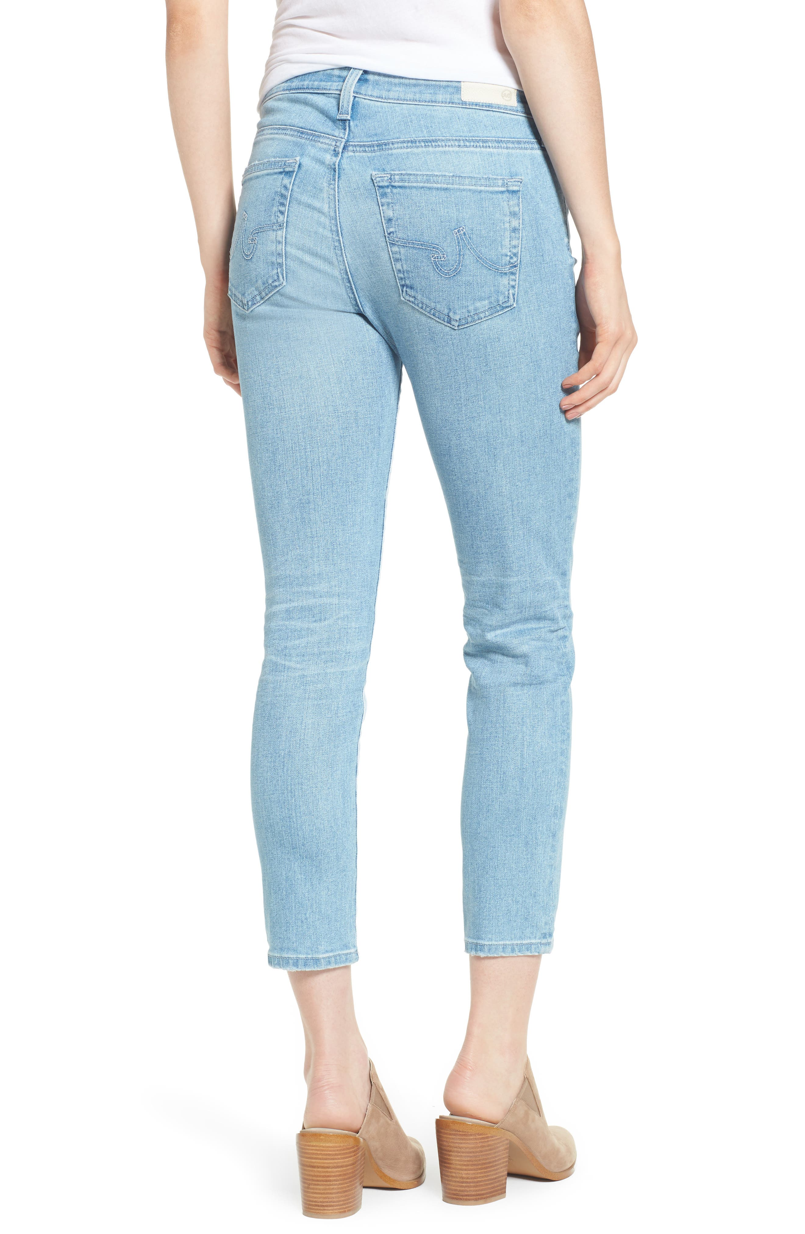 Prima Crop Cigarette Jeans,                             Alternate thumbnail 4, color,