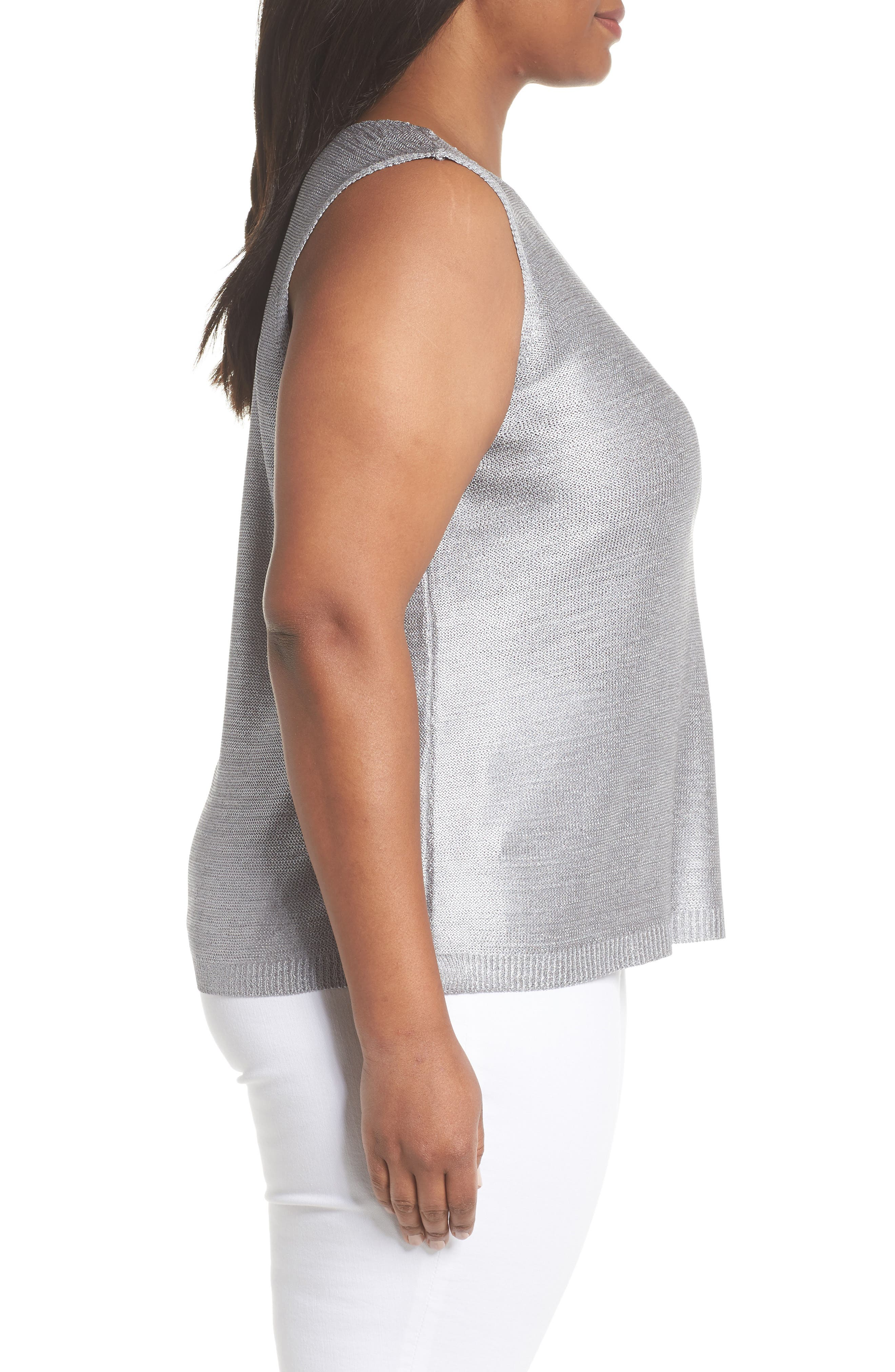 Beach Stone Knit Tank,                             Alternate thumbnail 3, color,                             020