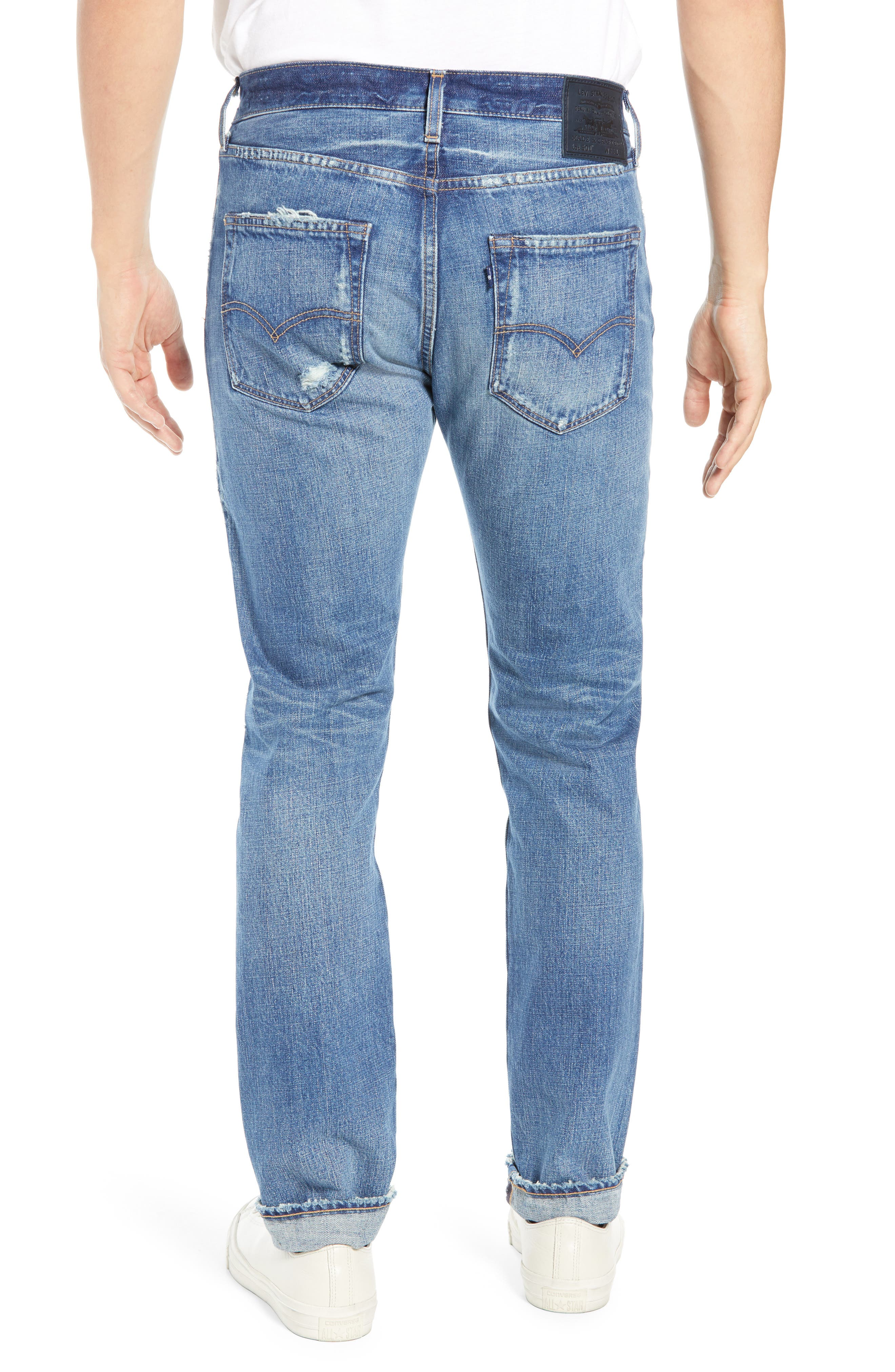 Levi's<sup>®</sup> Made & Crafted 501<sup>™</sup> Slim Fit Tapered Jeans,                             Alternate thumbnail 2, color,                             FOREVER