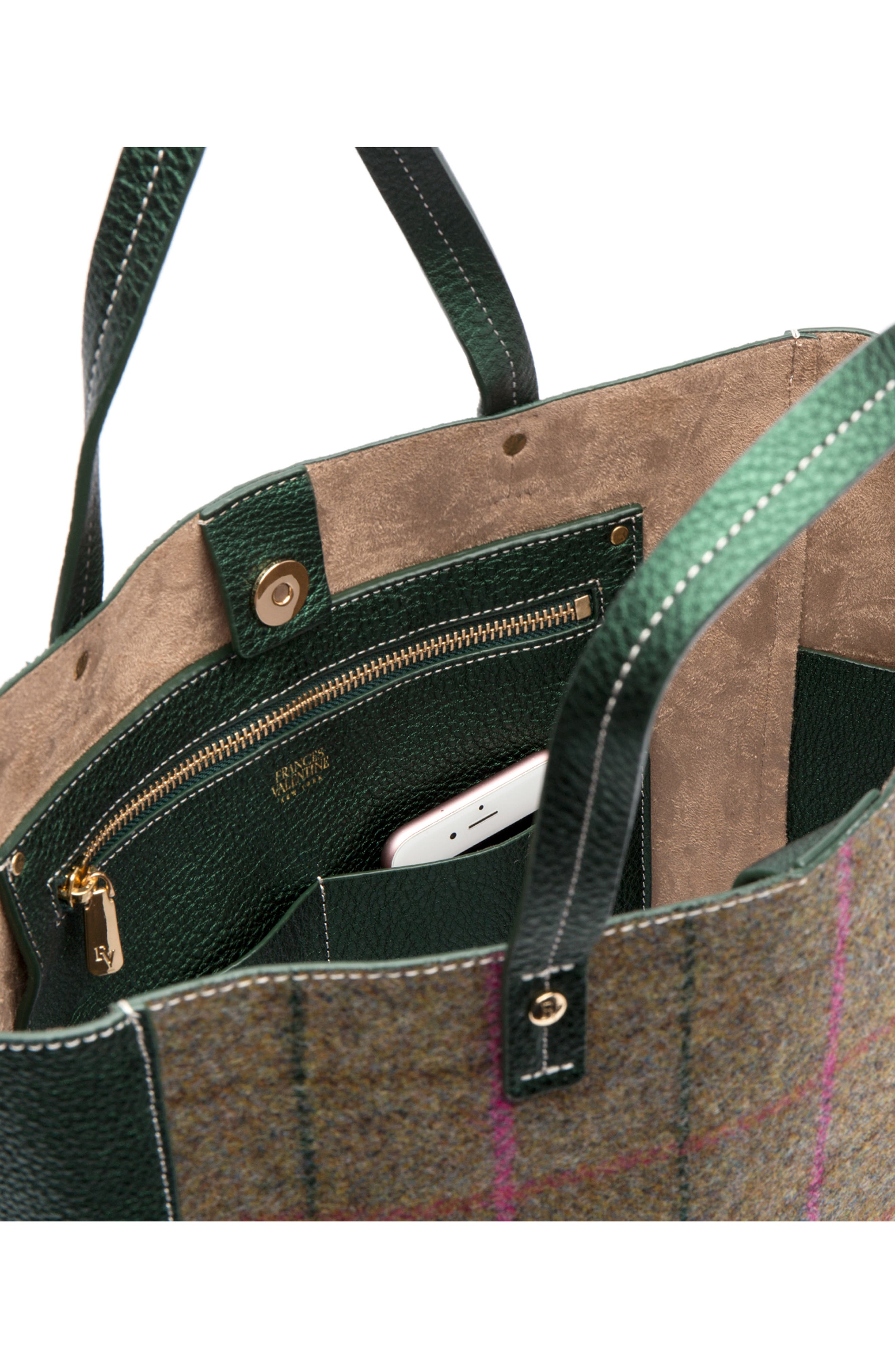 Large Margaret Wool & Leather Tote,                             Alternate thumbnail 2, color,                             EQUESTRIAN PLAID