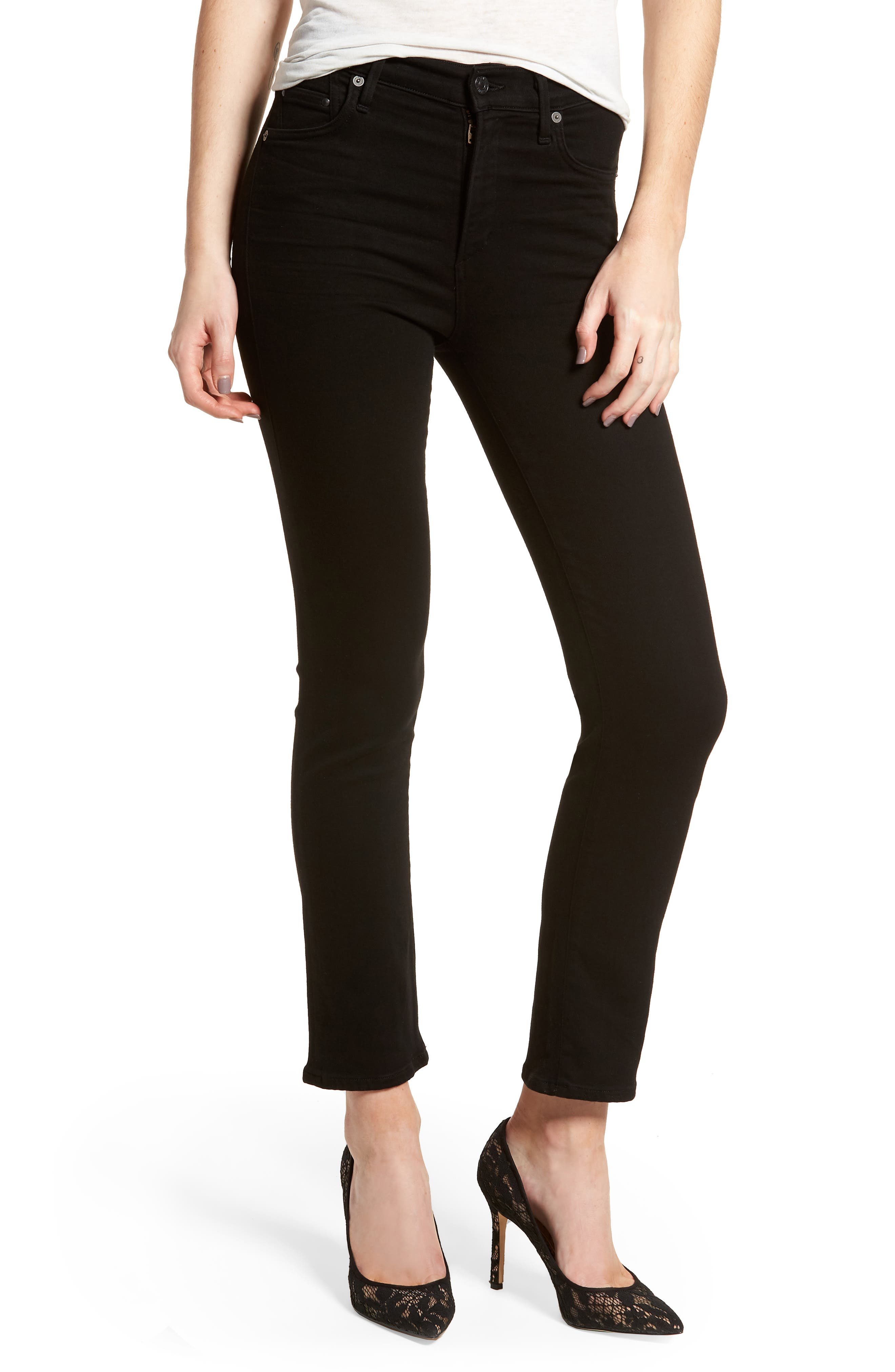 Cara Ankle Cigarette Jeans,                             Main thumbnail 1, color,                             002