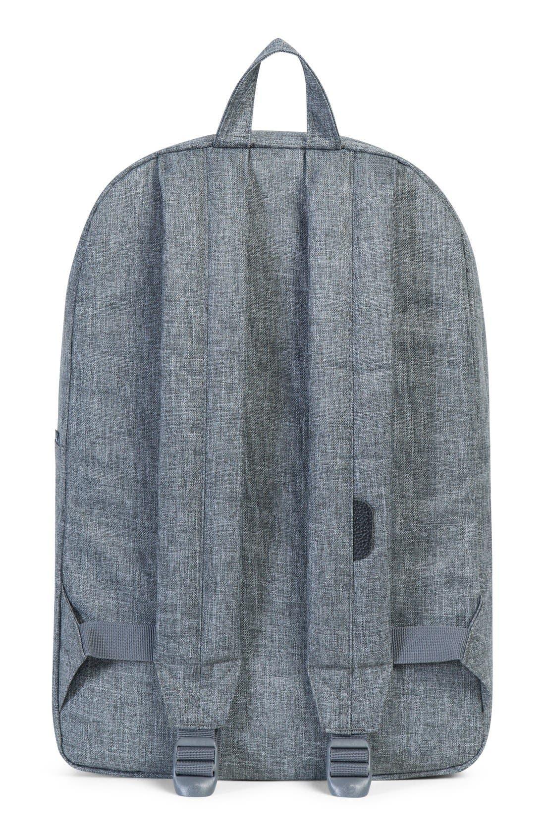 Heritage Backpack,                             Alternate thumbnail 8, color,                             RAVEN CROSSHATCH/ BLACK