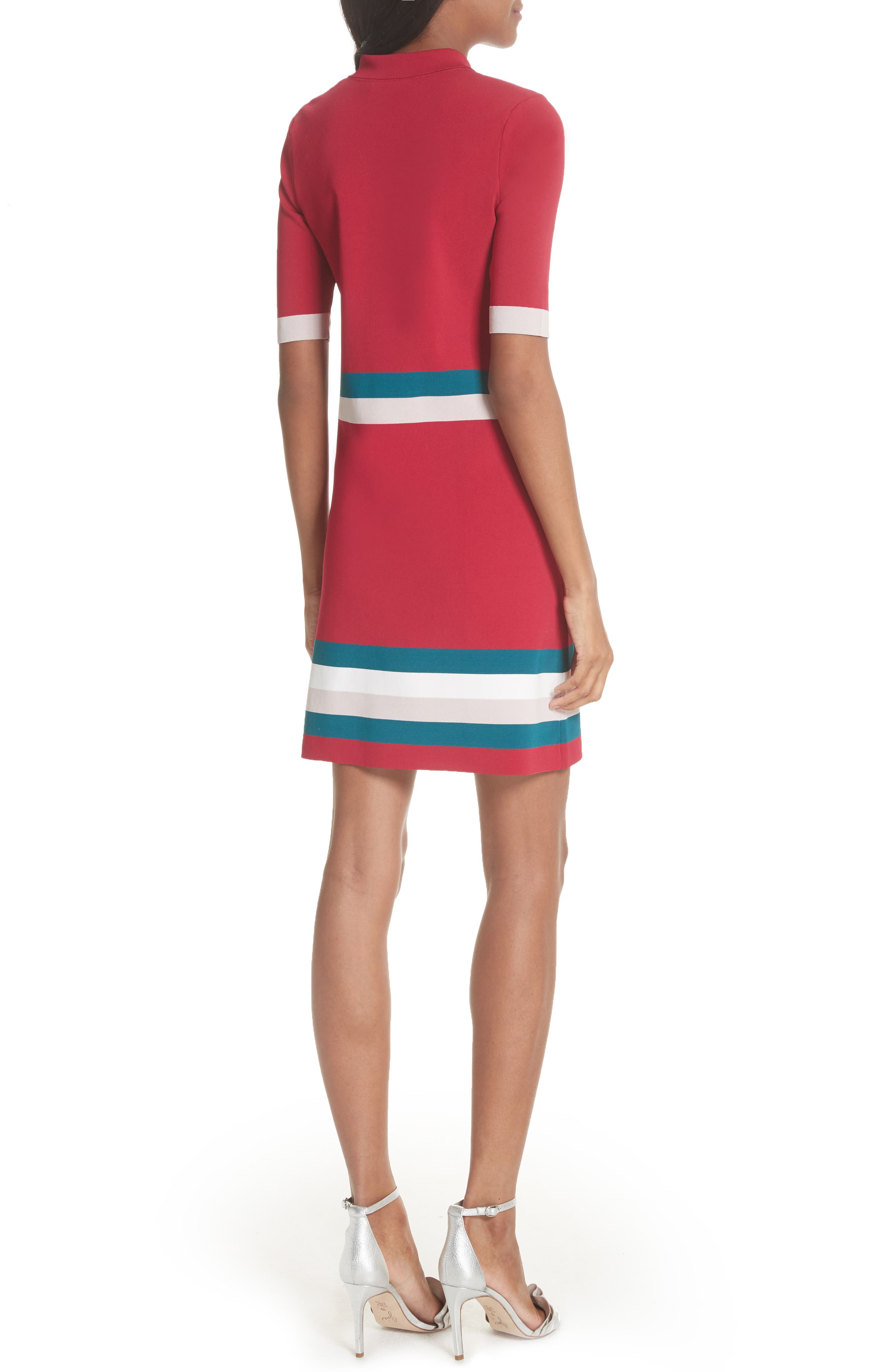 Colour by Numbers Border Stripe Dress,                             Alternate thumbnail 4, color,
