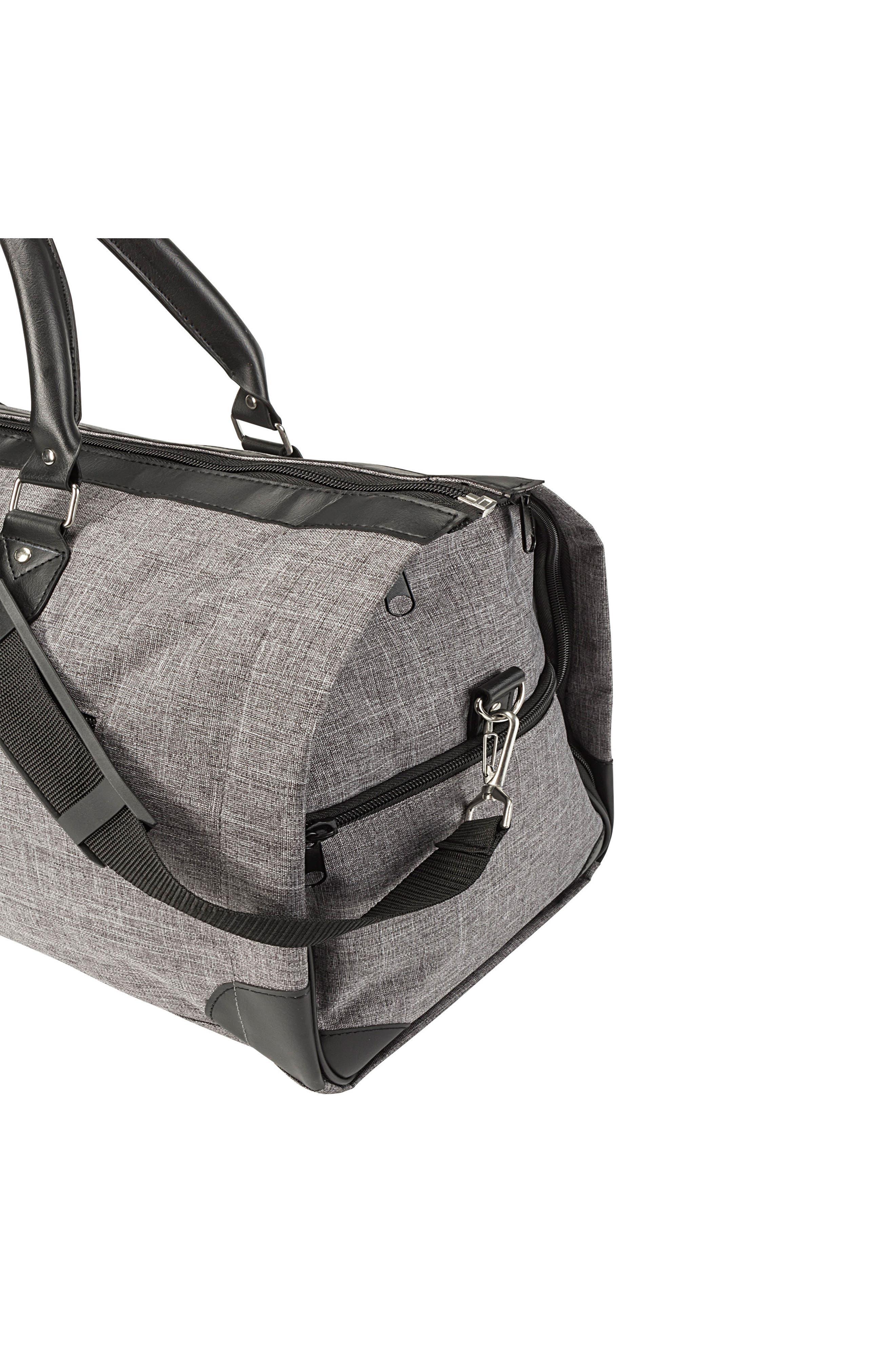 Monogram Duffel/Garment Bag,                             Alternate thumbnail 5, color,                             GREY A