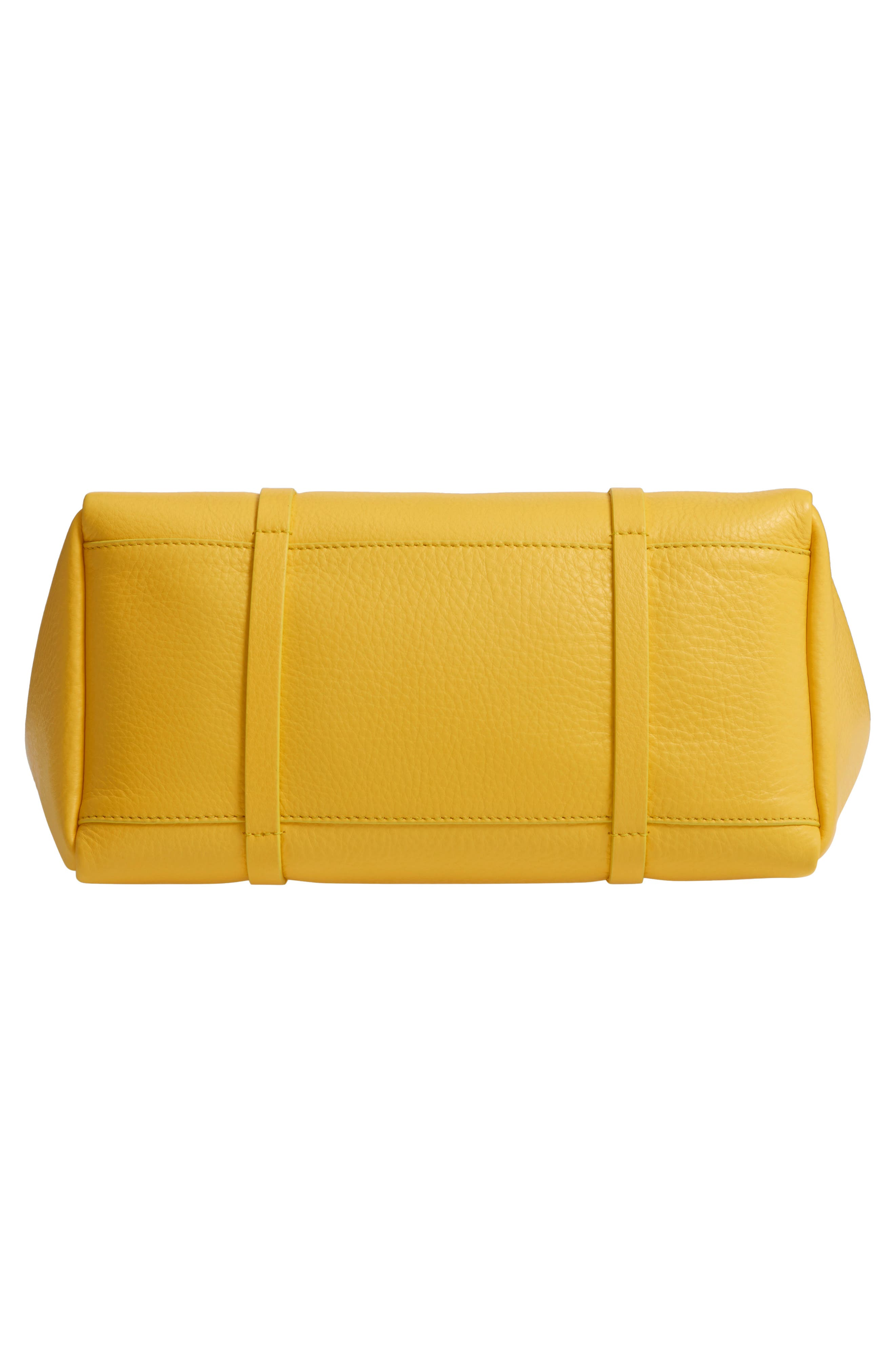 Small Everyday Calfskin Tote,                             Alternate thumbnail 6, color,                             YELLOW/ NOIR