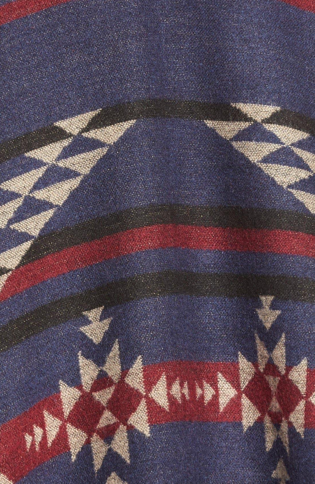 Reversible Geometric Pattern Poncho,                             Alternate thumbnail 2, color,                             900
