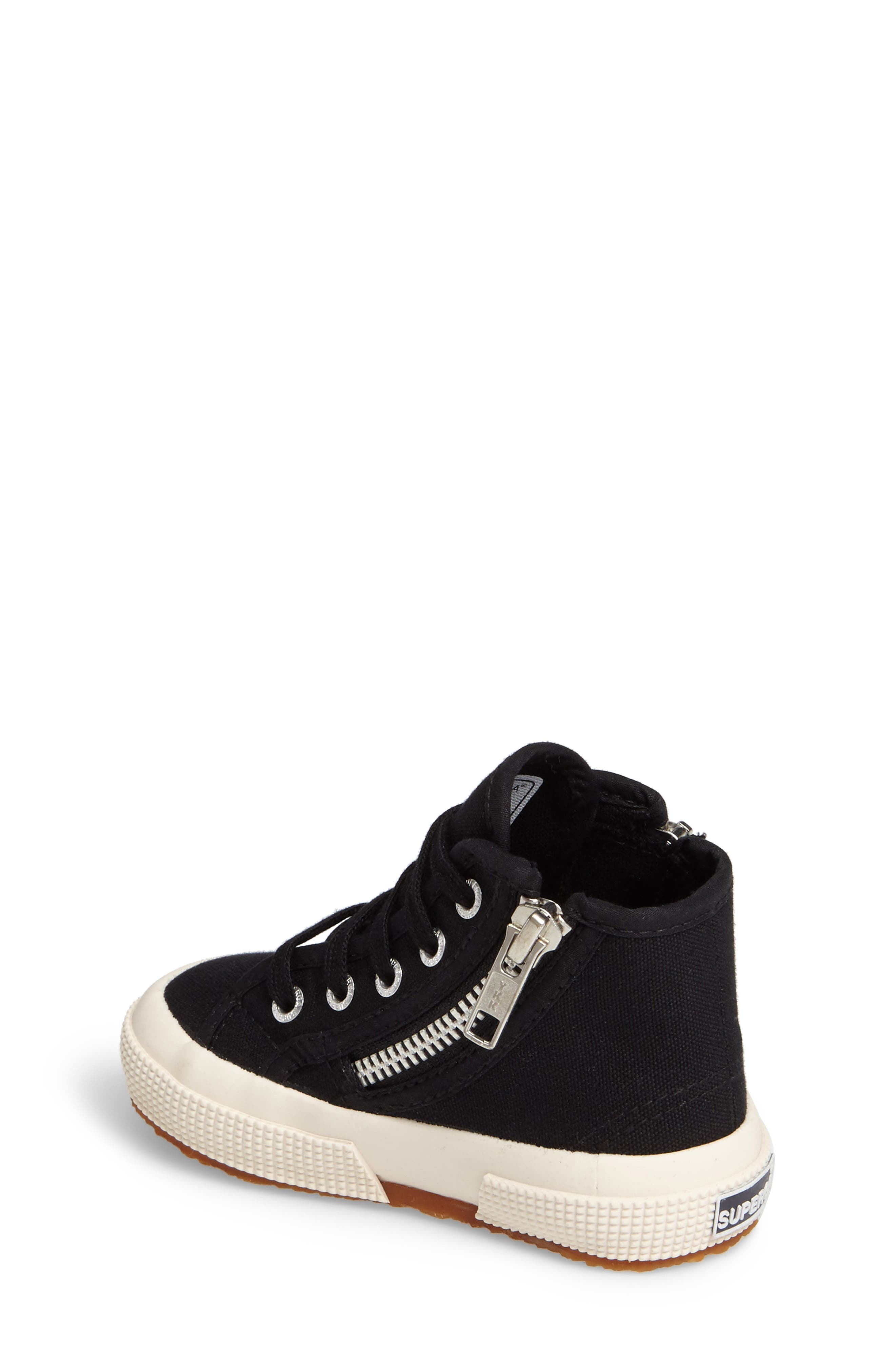 Zip High Top Sneaker,                             Alternate thumbnail 2, color,                             001