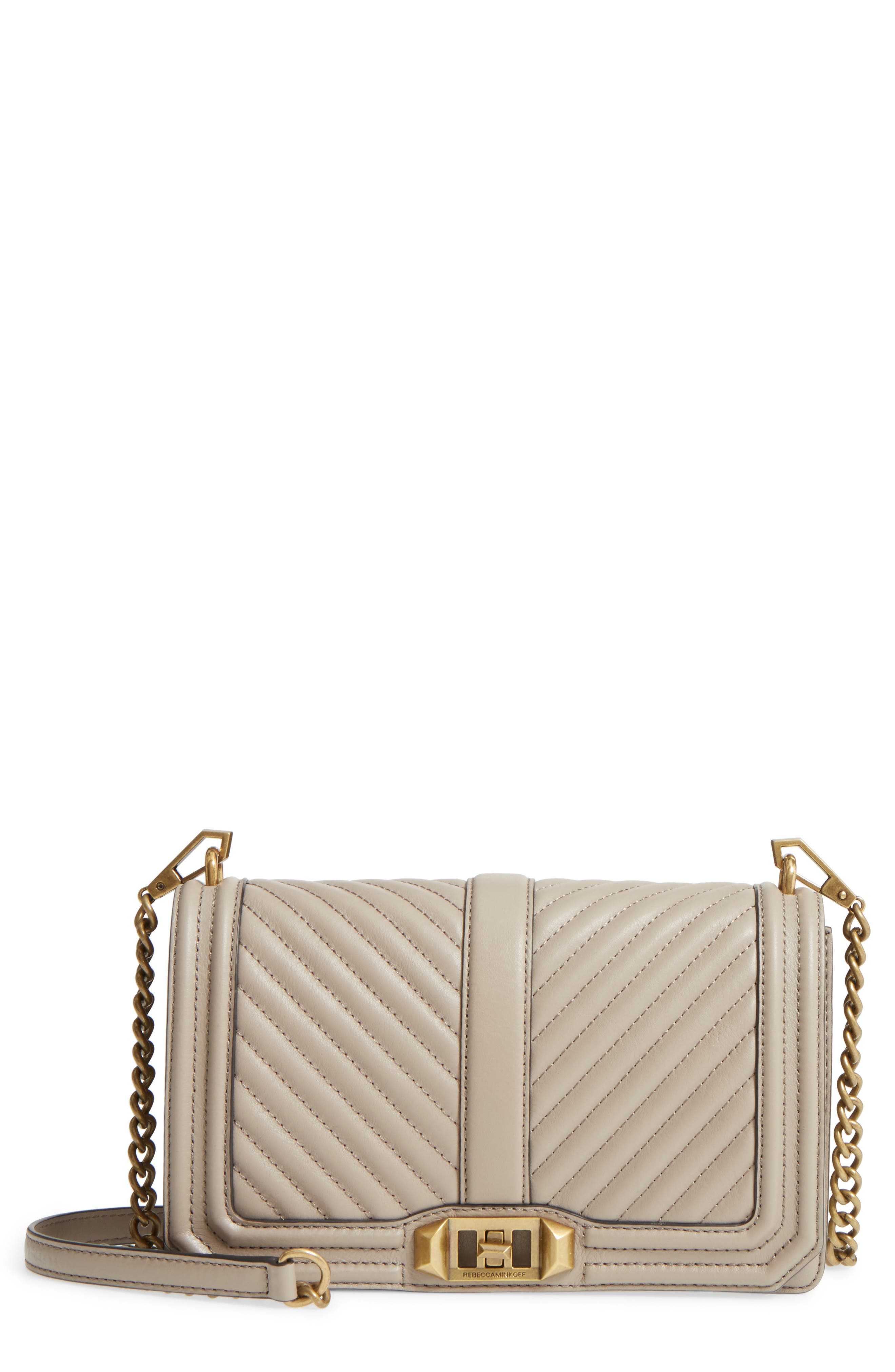 'Chevron Quilted Love' Crossbody Bag,                             Main thumbnail 8, color,