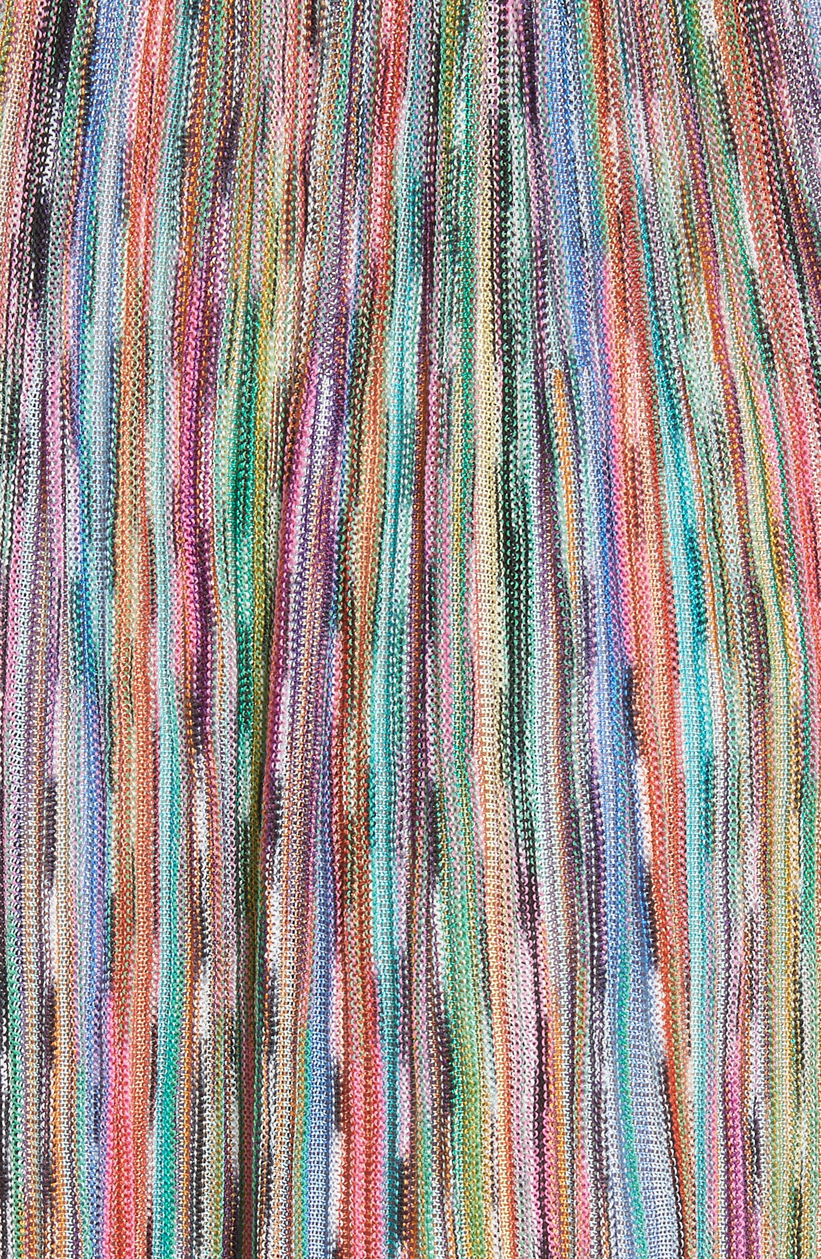 Surplice Neck Stripe Midi Dress,                             Alternate thumbnail 5, color,                             650