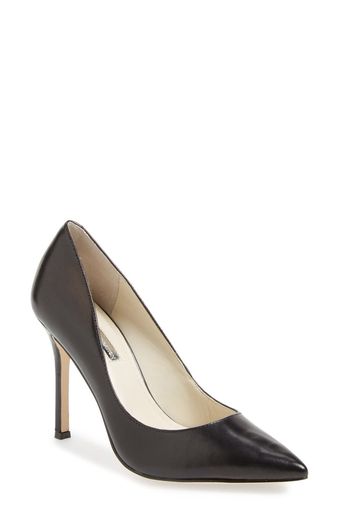 'Treasure' Pointy Toe Pump,                             Main thumbnail 1, color,                             001