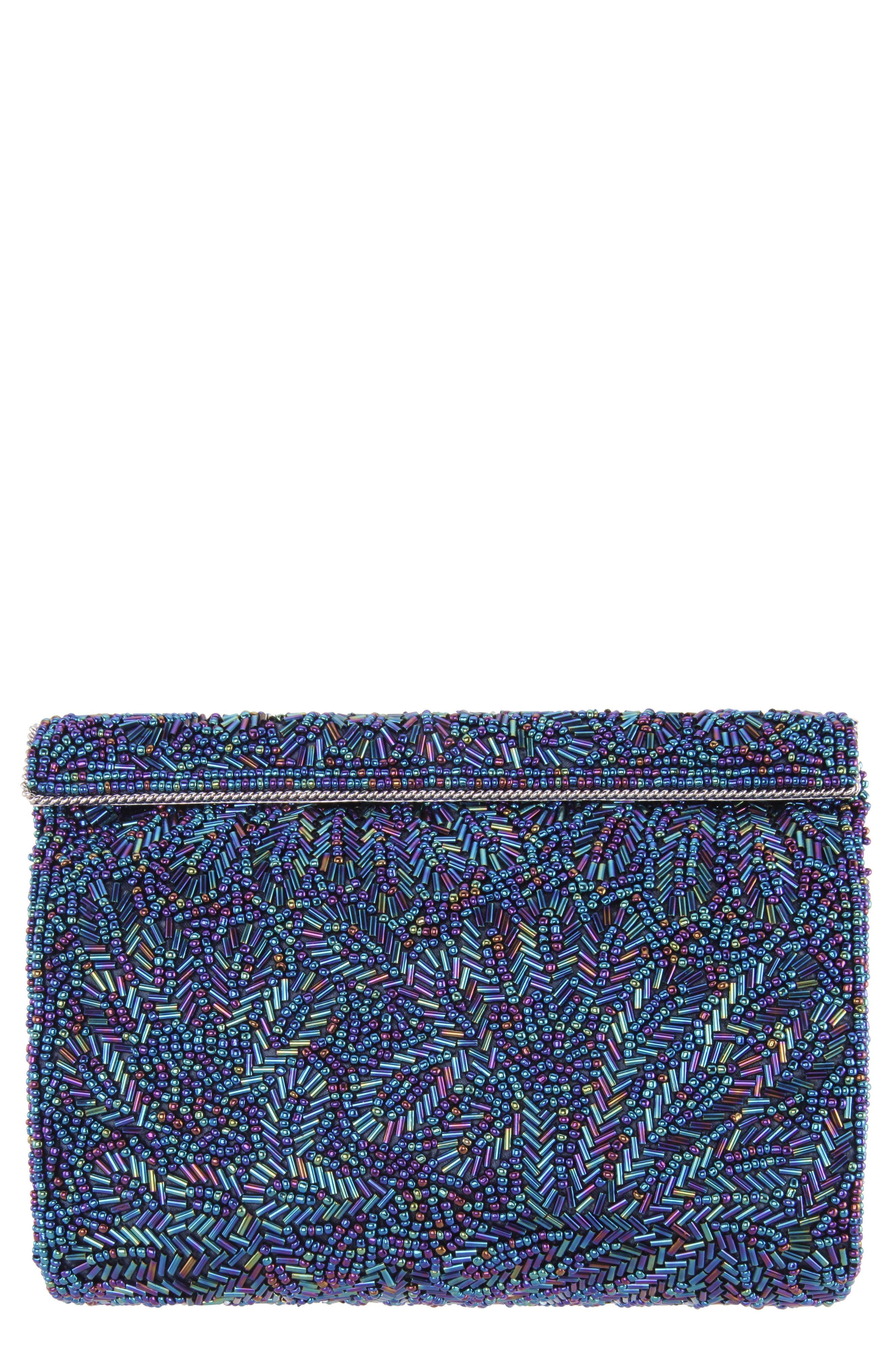 'Meadow' Beaded Frame Clutch,                             Main thumbnail 1, color,                             472