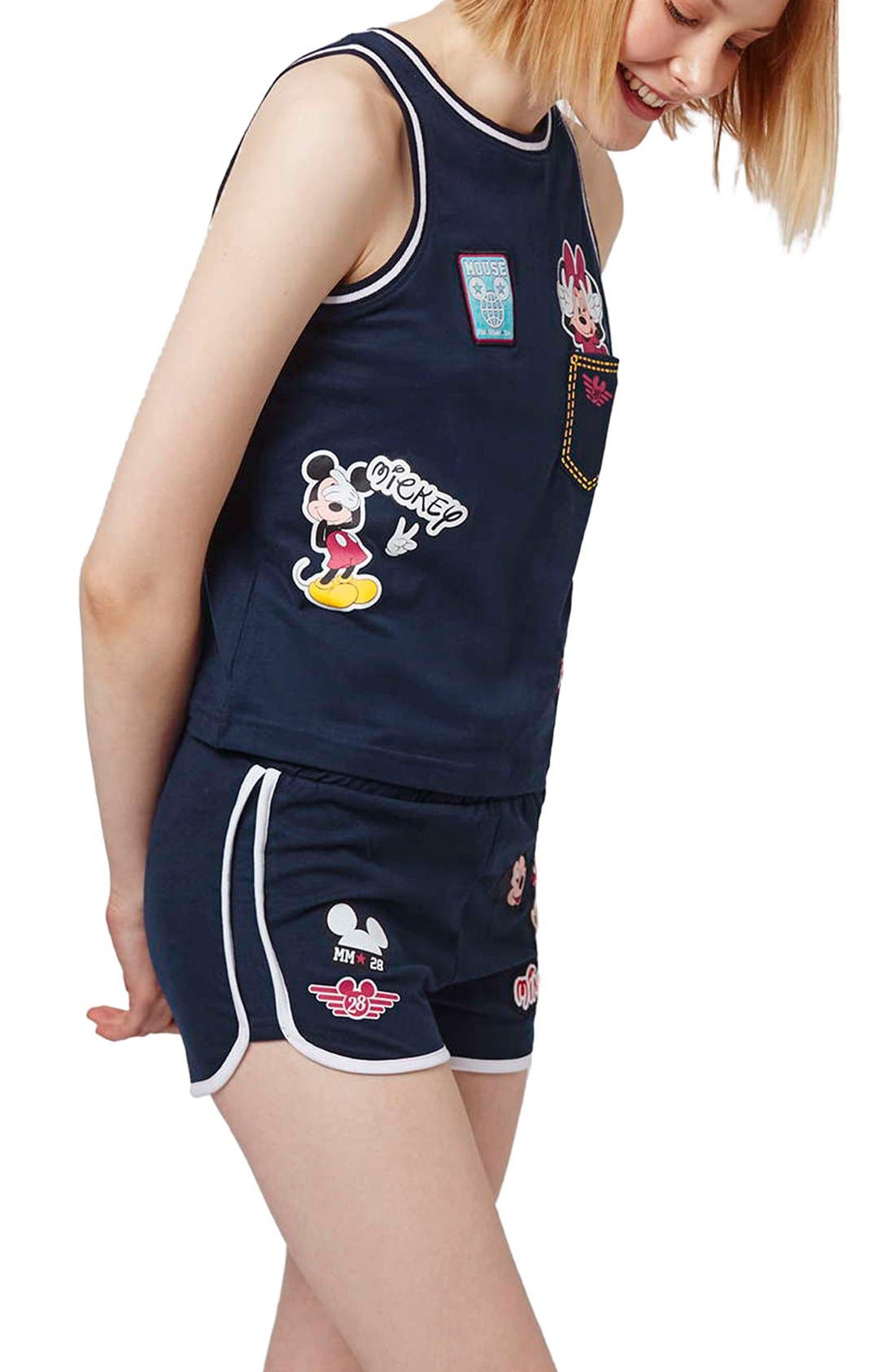 'Mickey & Minnie Mouse' Pajamas,                             Alternate thumbnail 4, color,                             410
