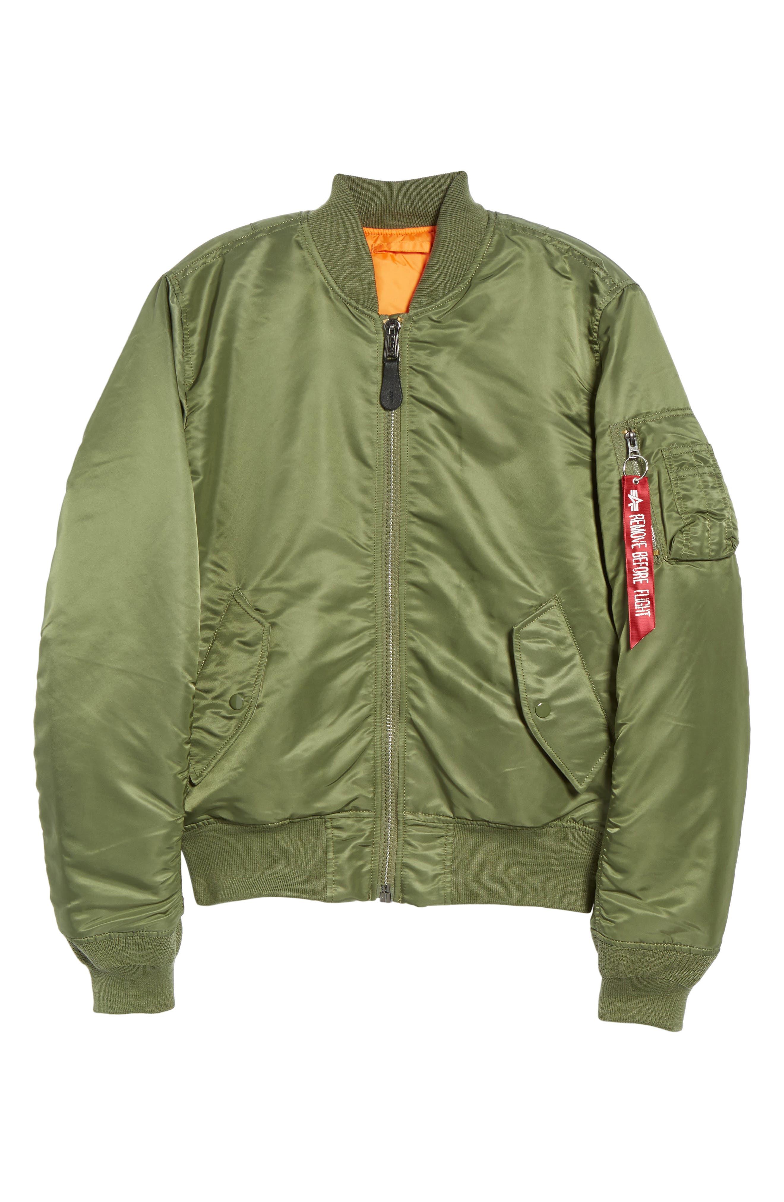 'MA-1' Slim Fit Bomber Jacket,                             Alternate thumbnail 42, color,