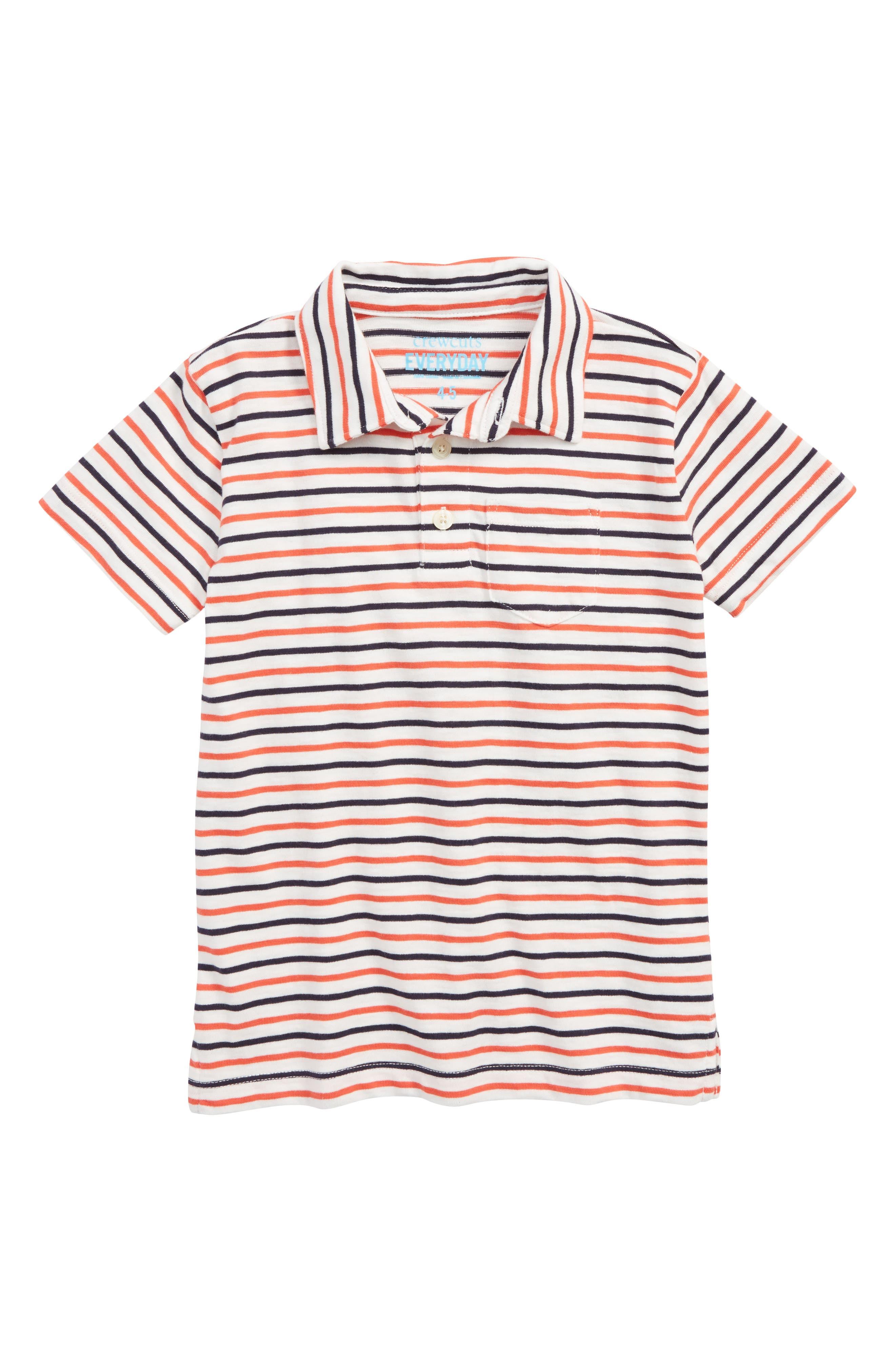 Stripe Polo Shirt,                             Main thumbnail 1, color,                             SUNSET MULTI