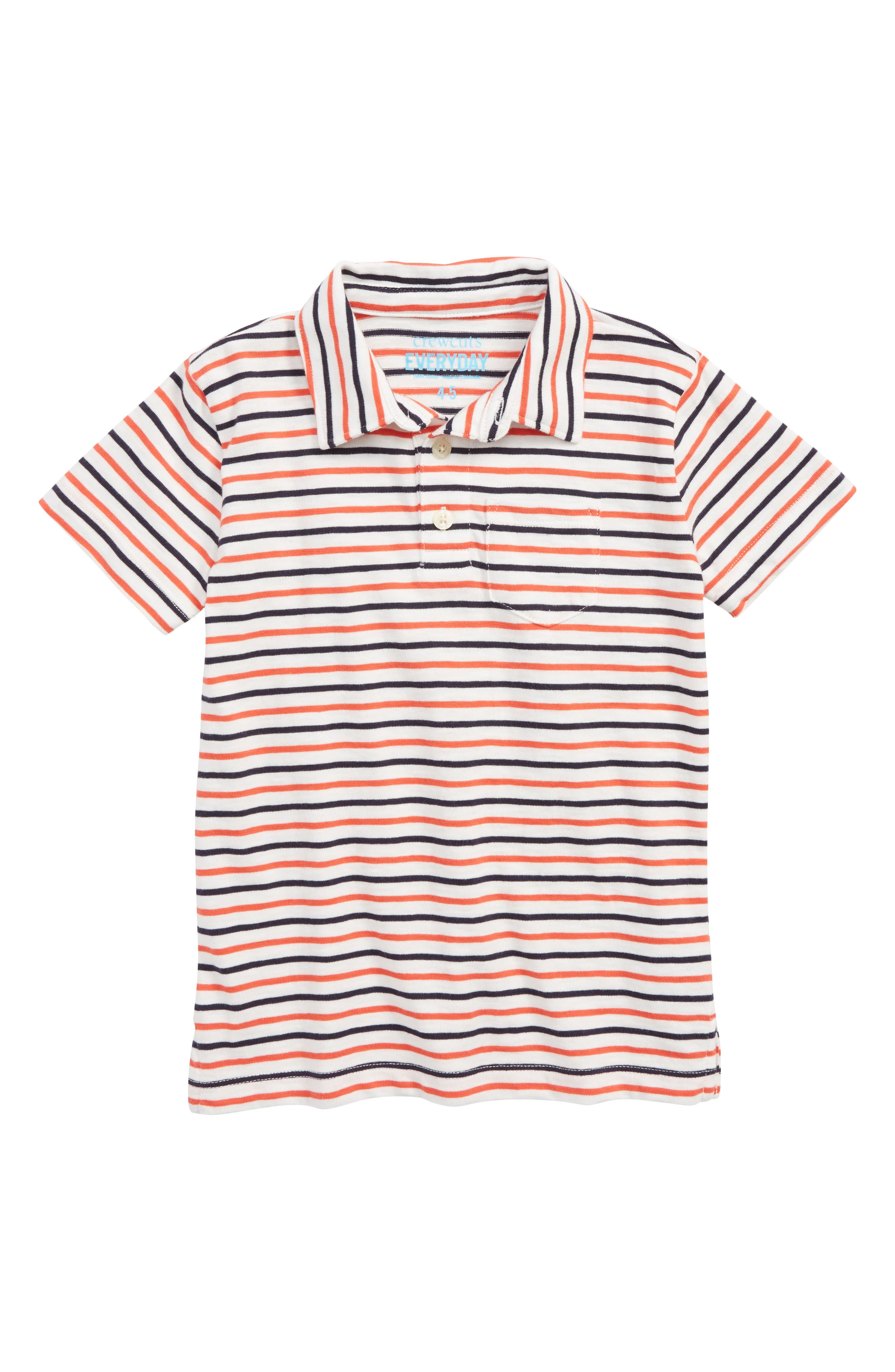 Stripe Polo Shirt,                         Main,                         color, SUNSET MULTI