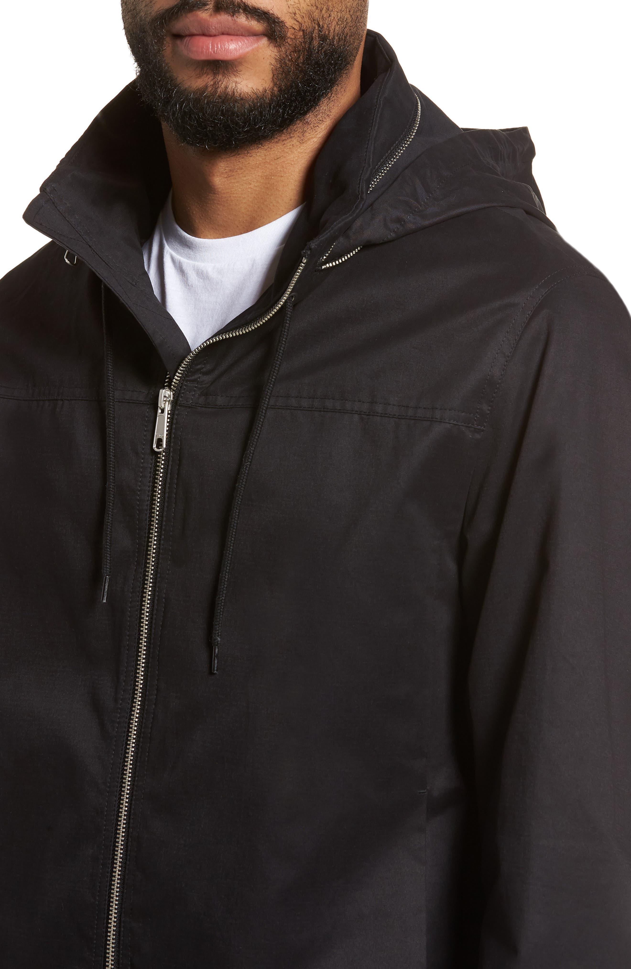 Regular Fit Hooded Jacket,                             Alternate thumbnail 4, color,                             001
