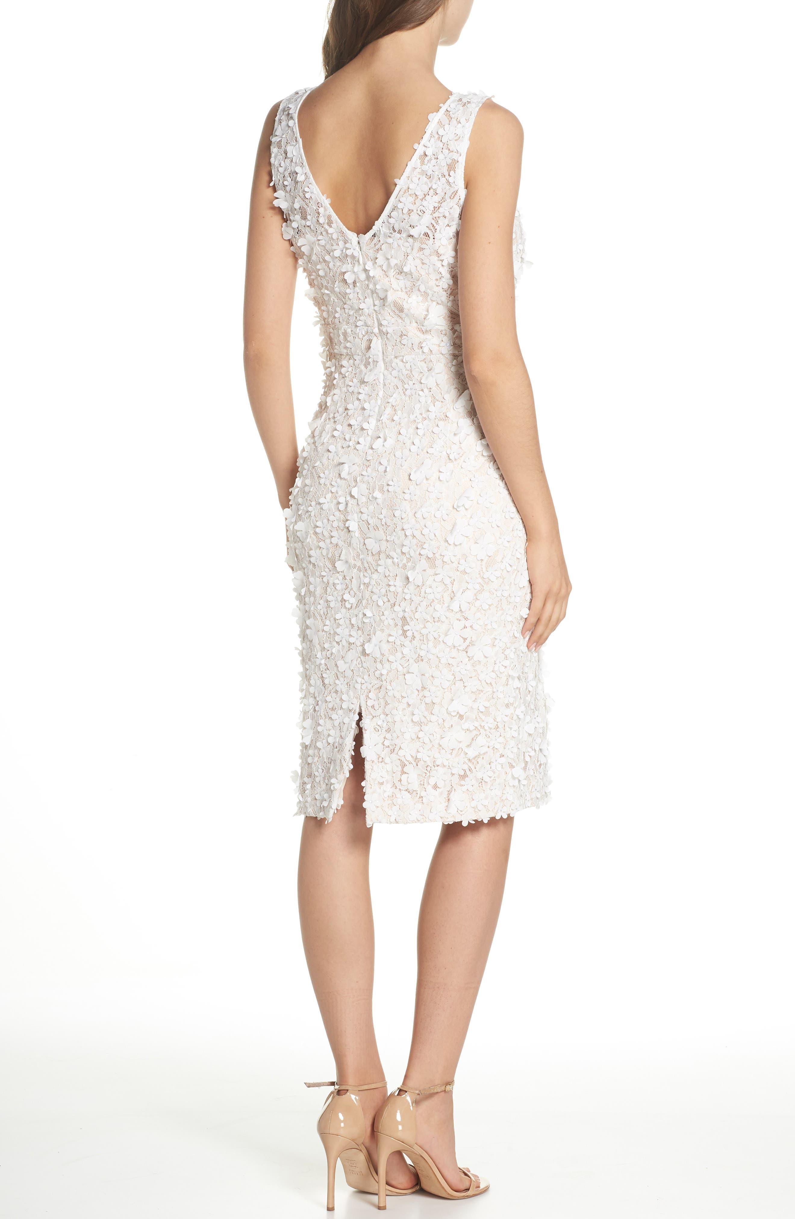 Appliqué Lace Sheath Dress,                             Alternate thumbnail 2, color,                             900