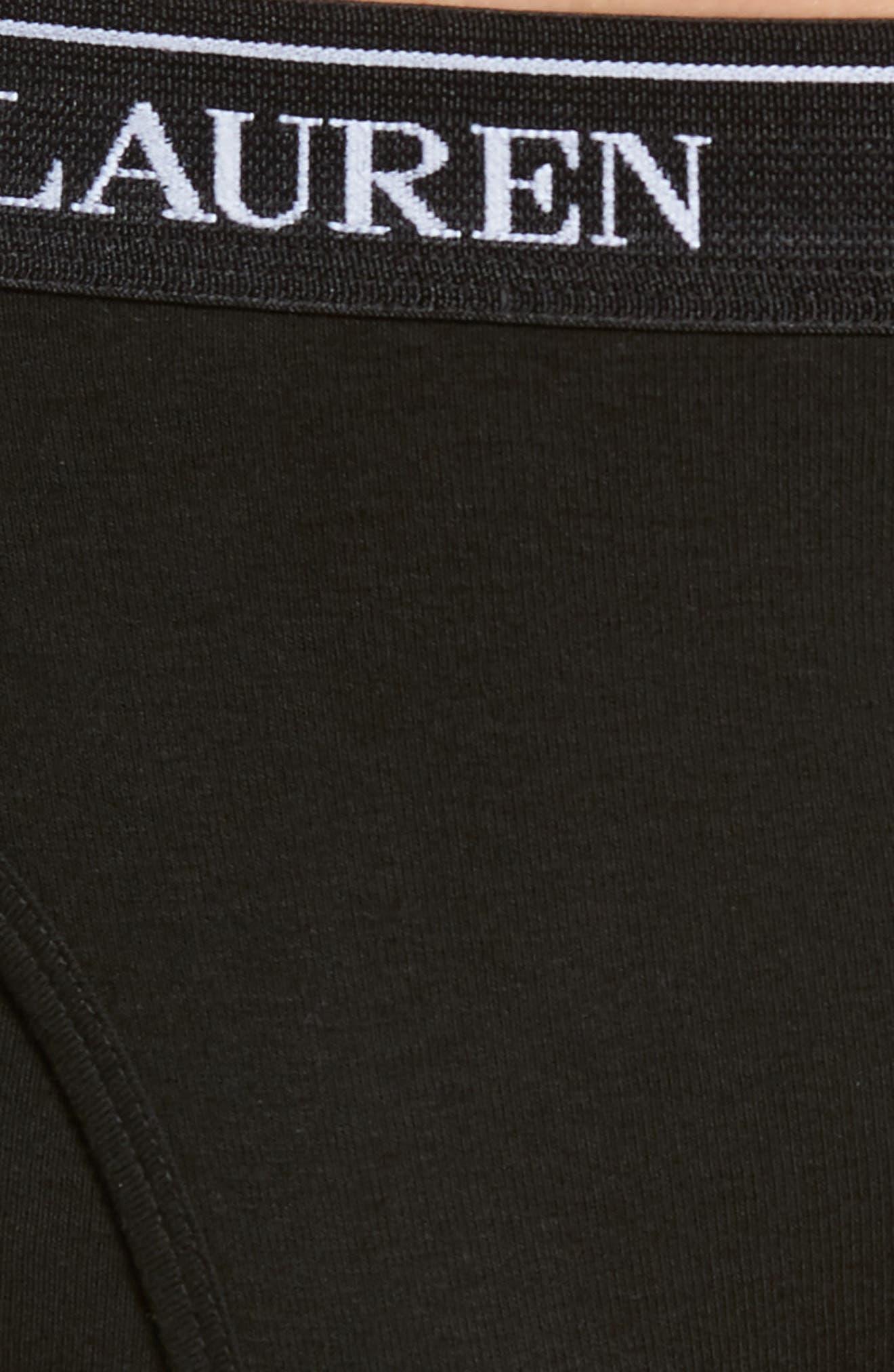 Polo Ralph Lauren 4-Pack Low Rise Cotton Briefs,                             Alternate thumbnail 6, color,                             POLO BLACK