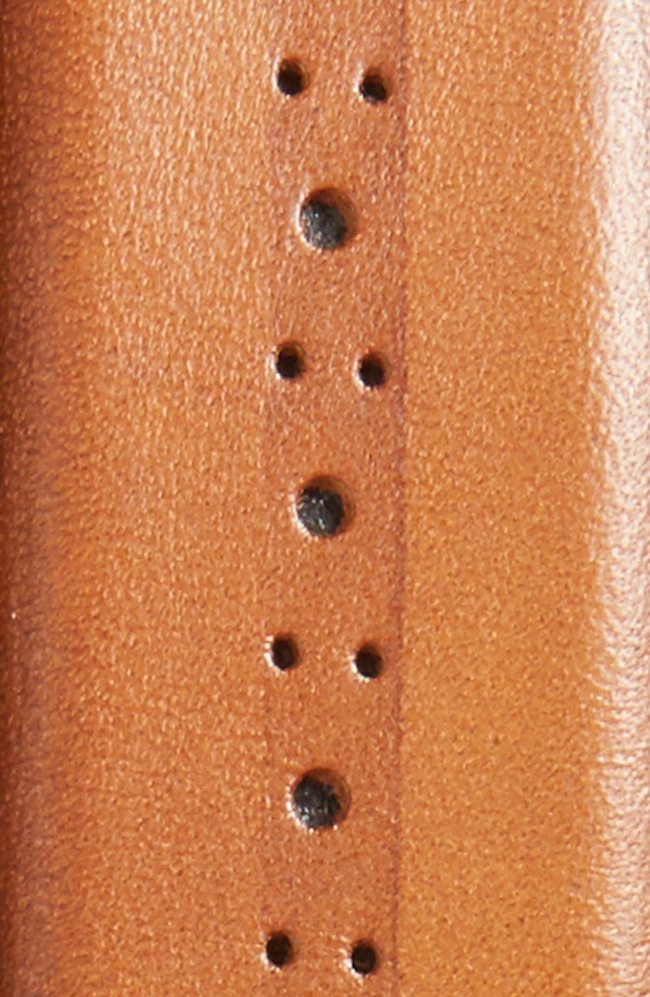 Eastwick Leather Belt,                             Alternate thumbnail 2, color,                             COGNAC