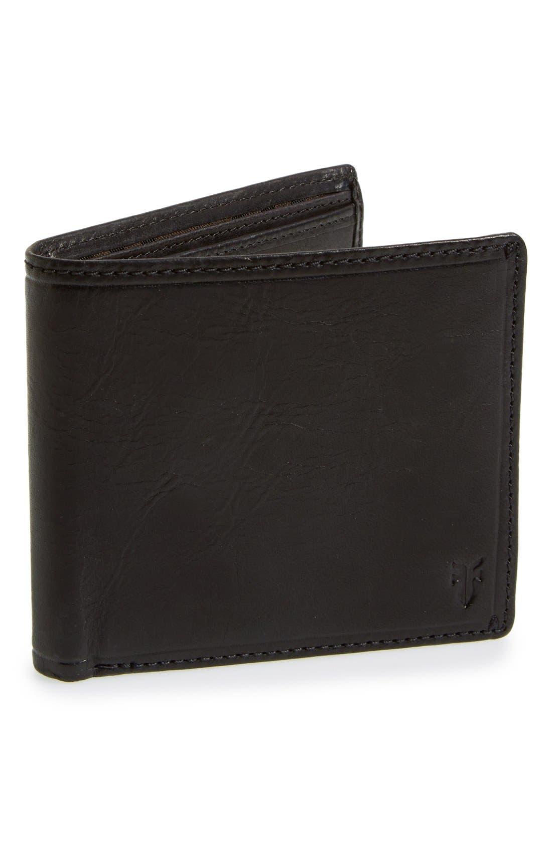 'Logan' Leather Billfold Wallet,                         Main,                         color,