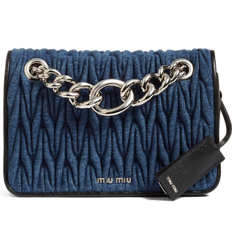 Miu Miu Club Denim Shoulder Bag  c551776a81b4d