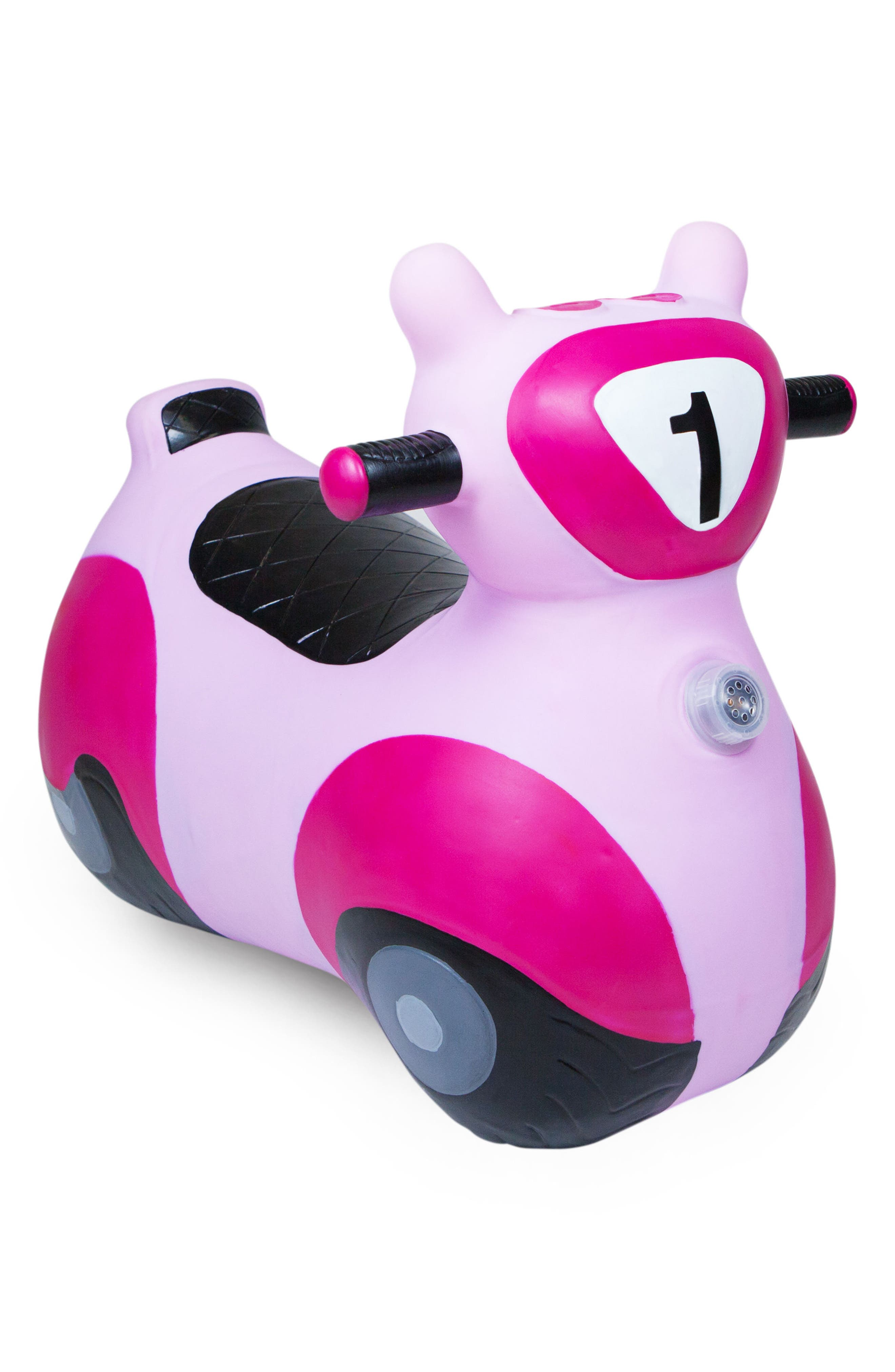 Scooter Bouncy Ride-On Scooter Toy,                             Main thumbnail 1, color,                             PINK