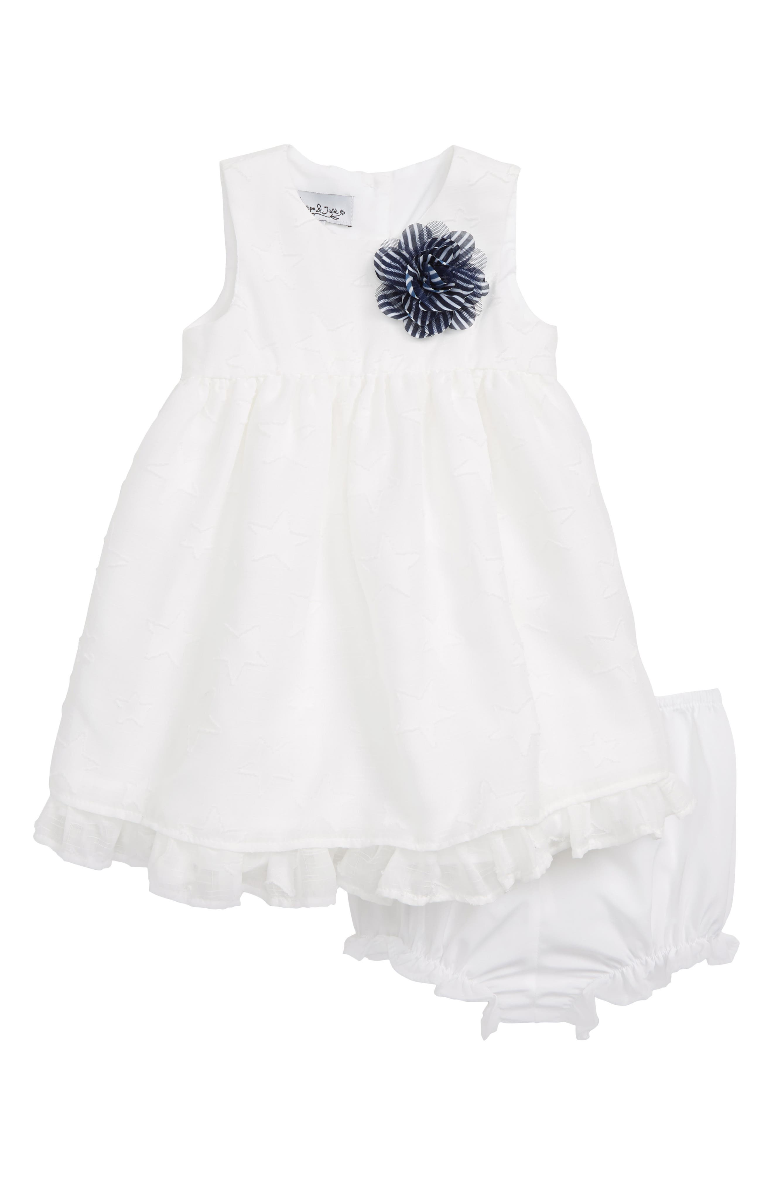 PIPPA & JULIE,                             White Star Dress,                             Main thumbnail 1, color,                             WHITE