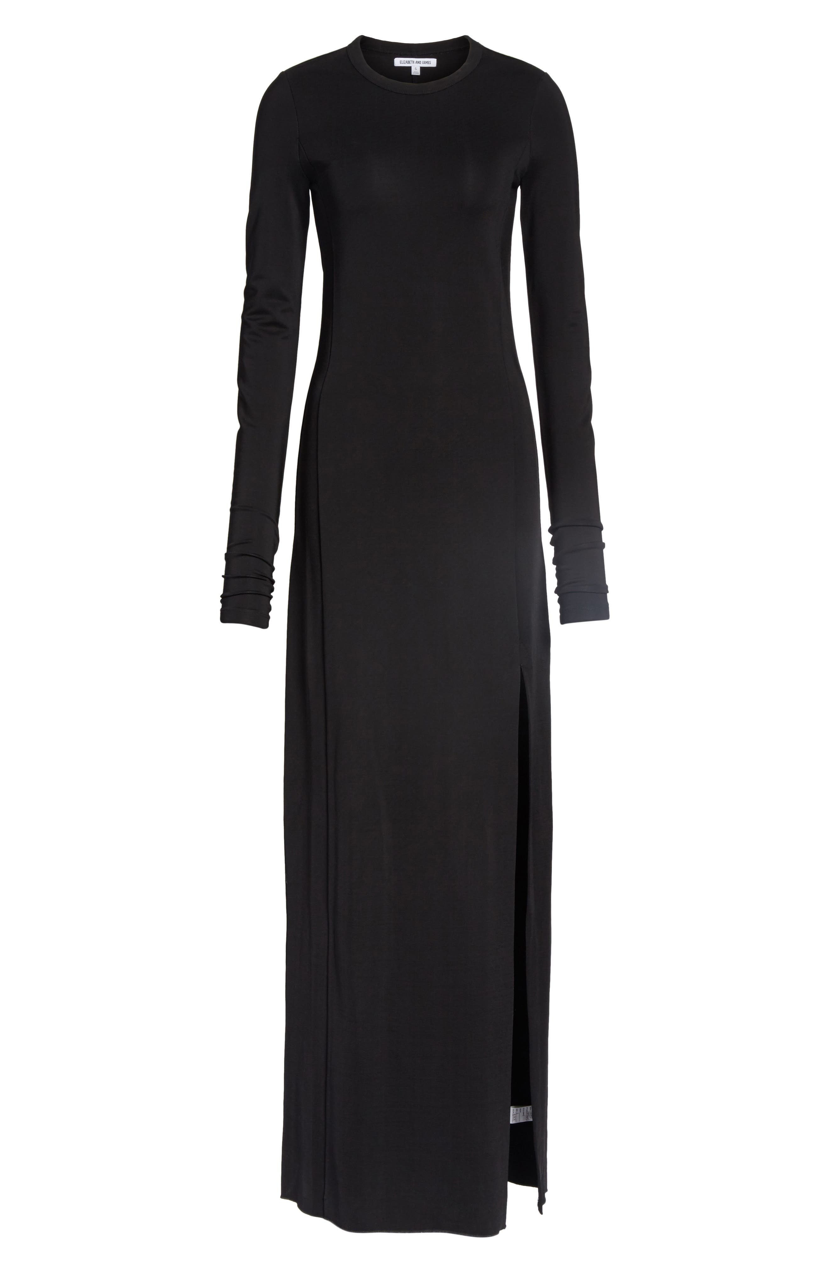 Fallon Slit Skirt Jersey Maxi Dress,                             Alternate thumbnail 6, color,                             001