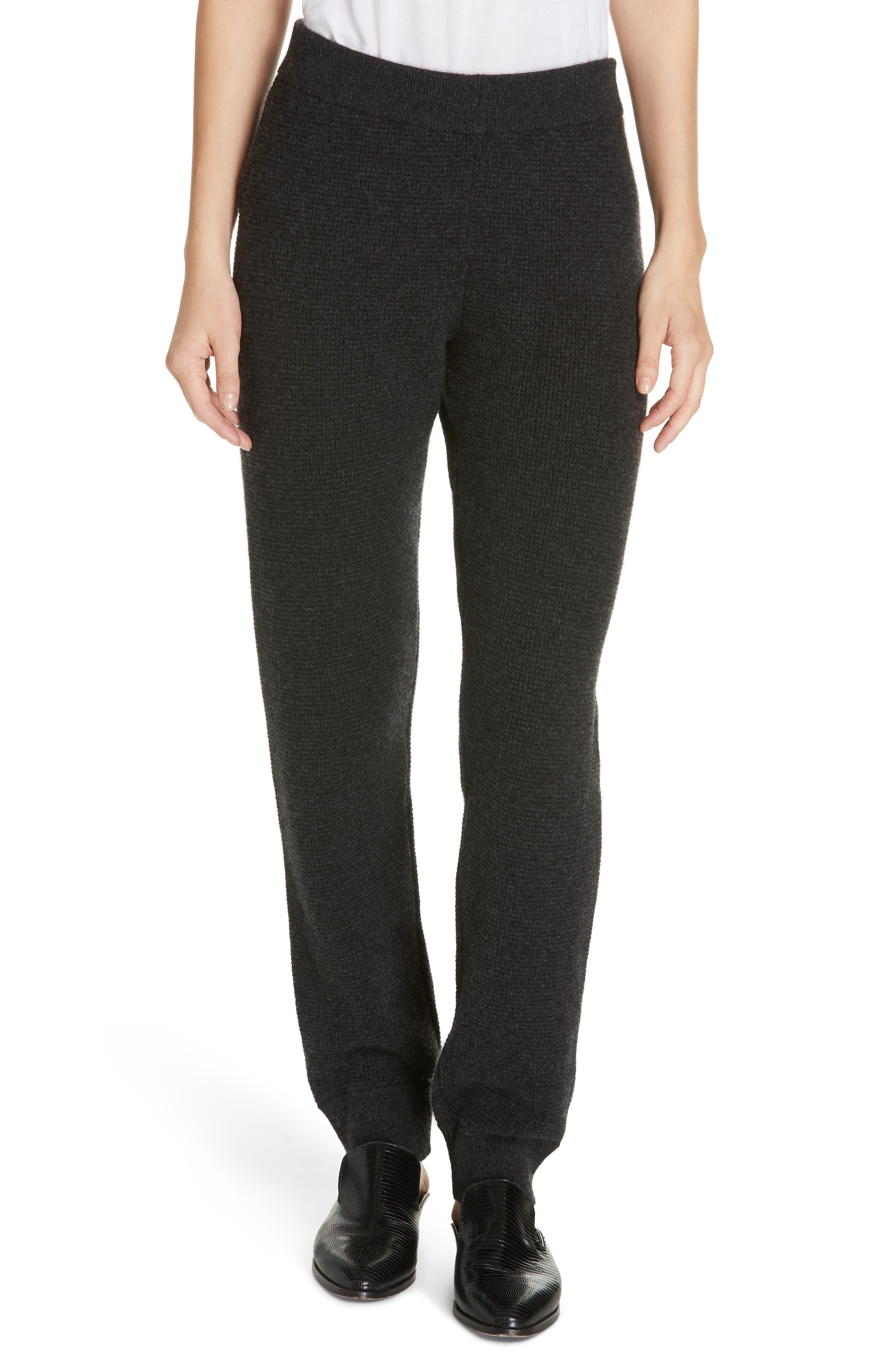 JENNI KAYNE Thermal Cashmere Sweatpants in Charcoal