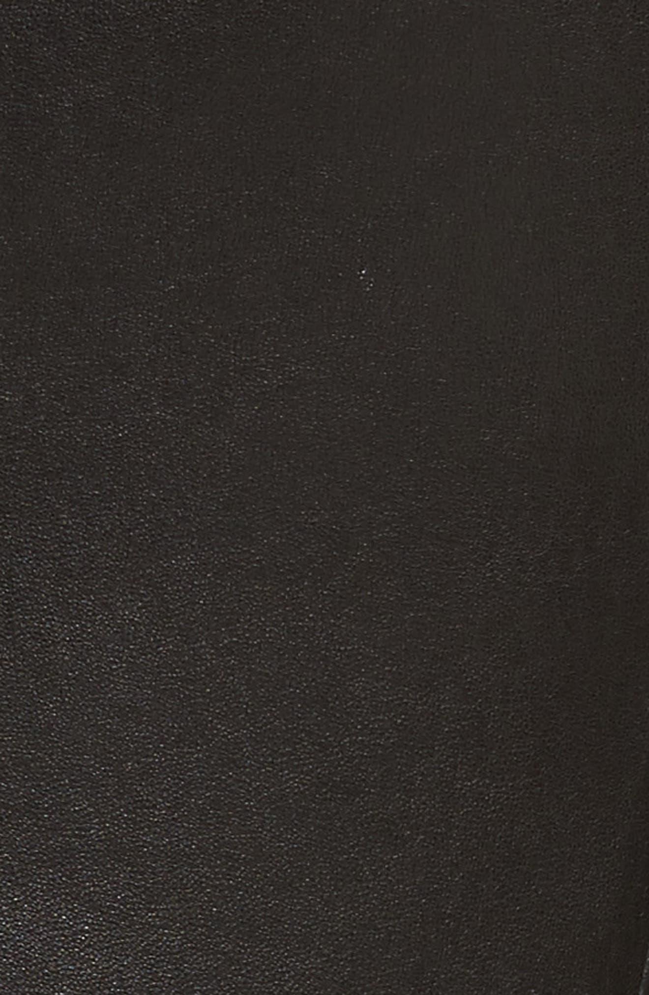 Bristol Leather Blazer,                             Alternate thumbnail 6, color,                             001