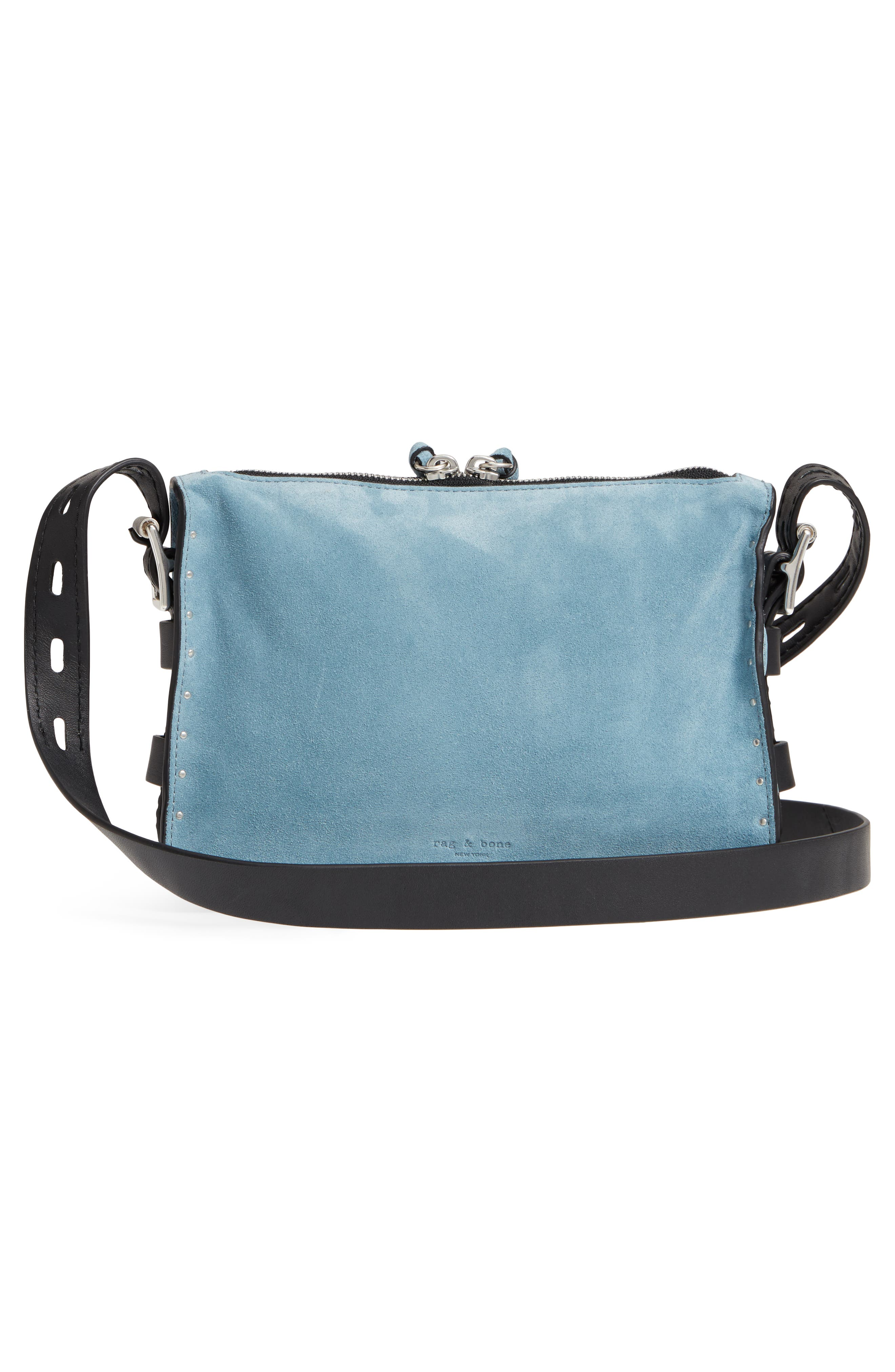 Small Field Suede Messenger Bag,                             Alternate thumbnail 3, color,